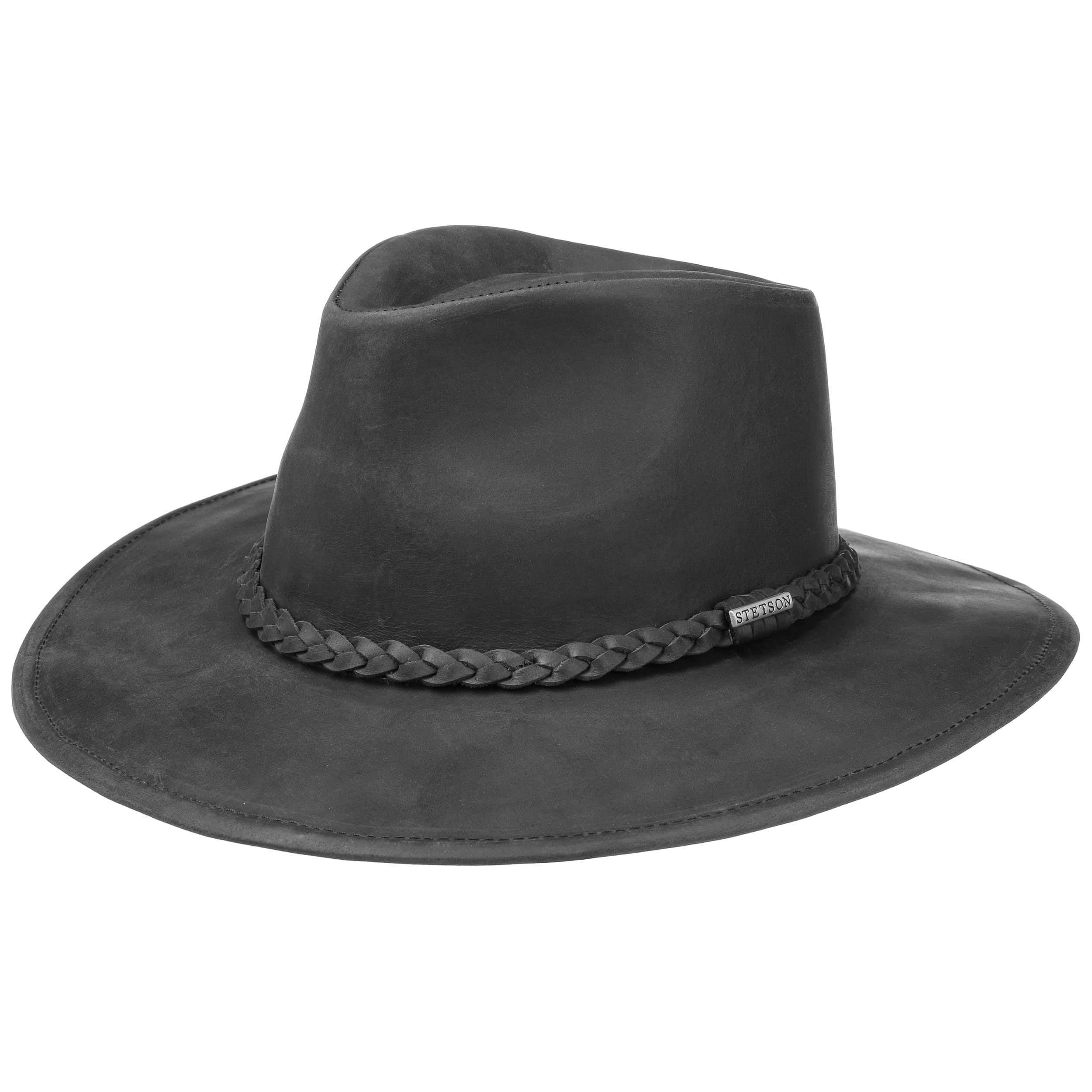 Forma rigido Western Cowboy Cappello larghezza tesa Nero Marrone S-XL