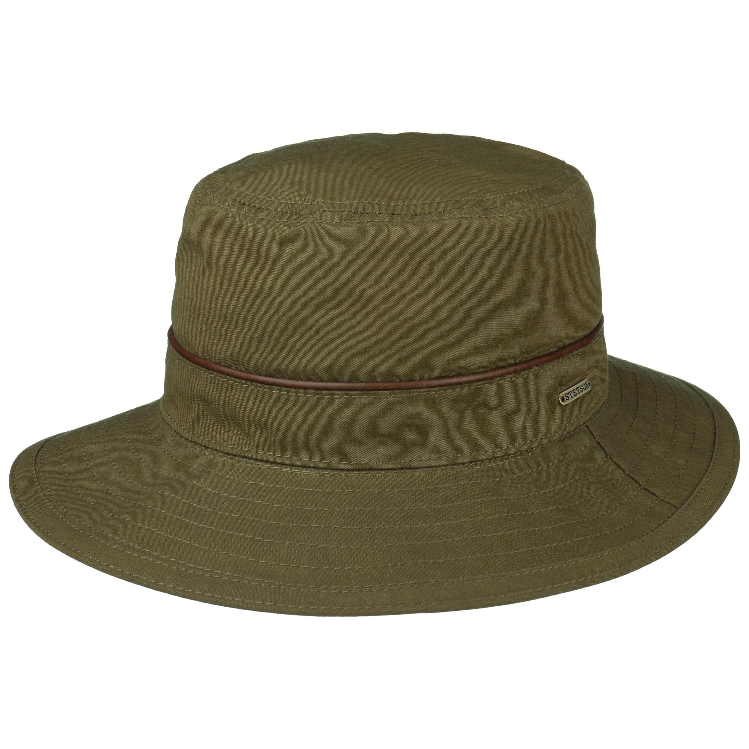 Waxed Cotton Bucket Outdoor Hat olive