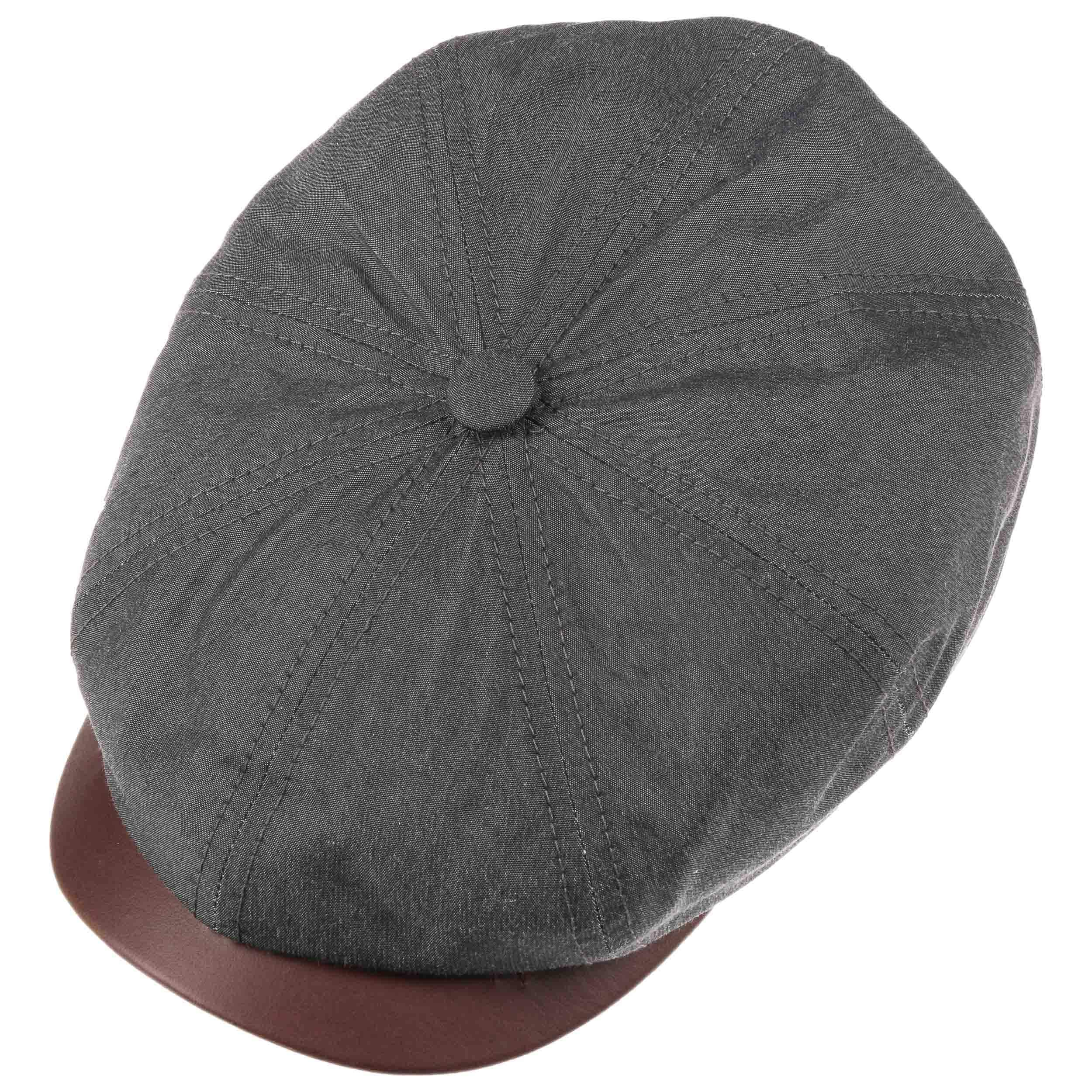 Hatteras Waxed Cotton Outdoor Cap dunkelgrau