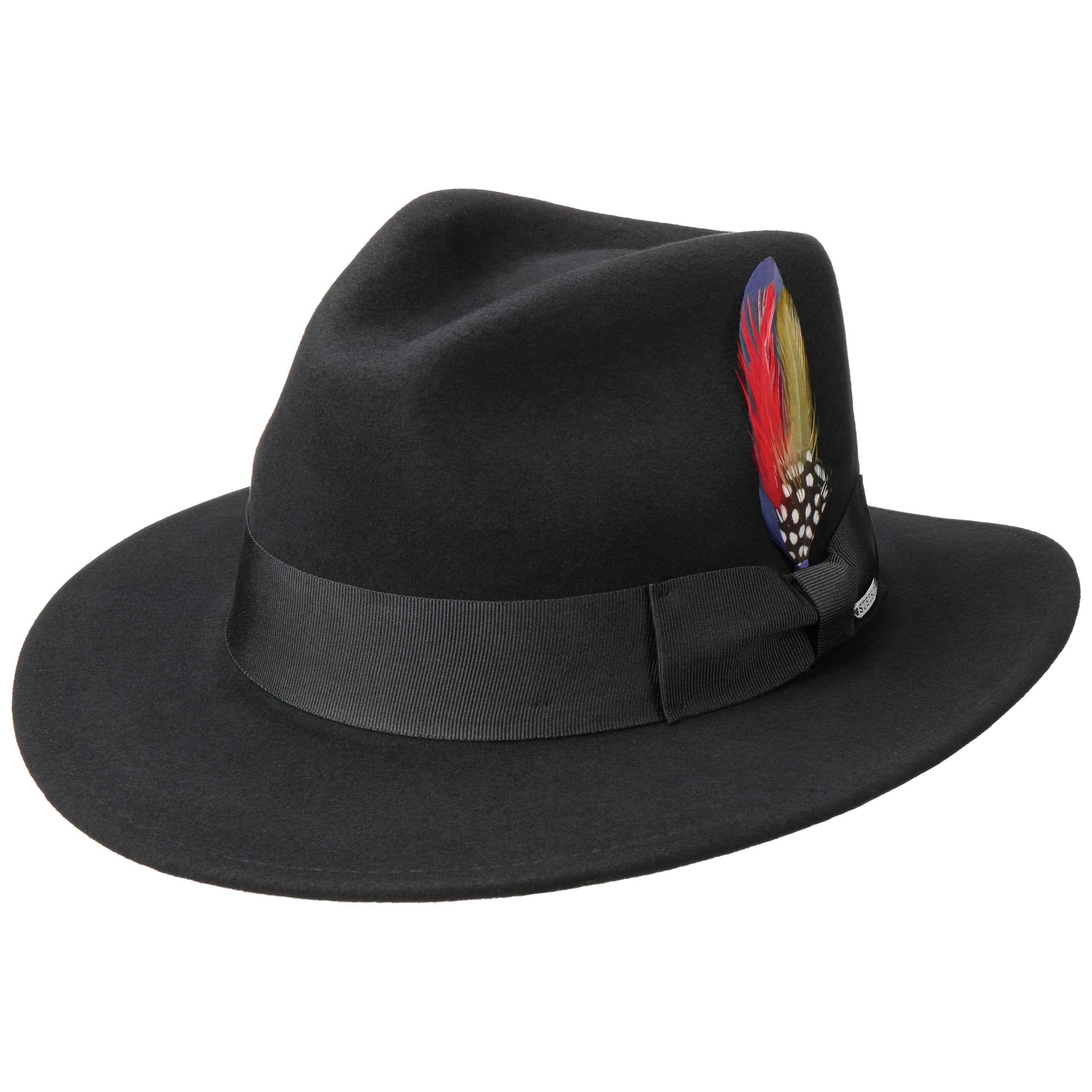 Vernard Wool Felt Hat with Cashmere black