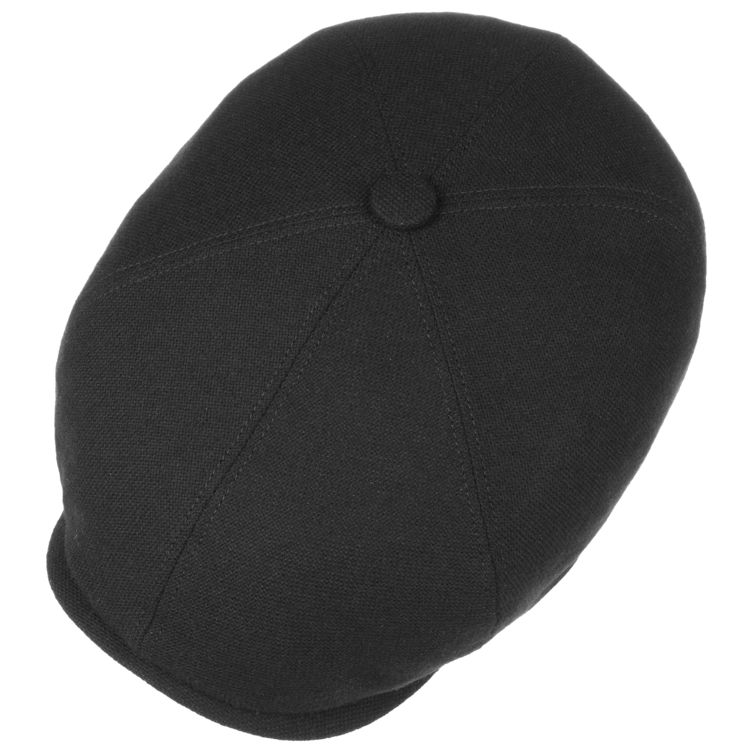 Brooklin Wool Cashmere Flatcap schwarz