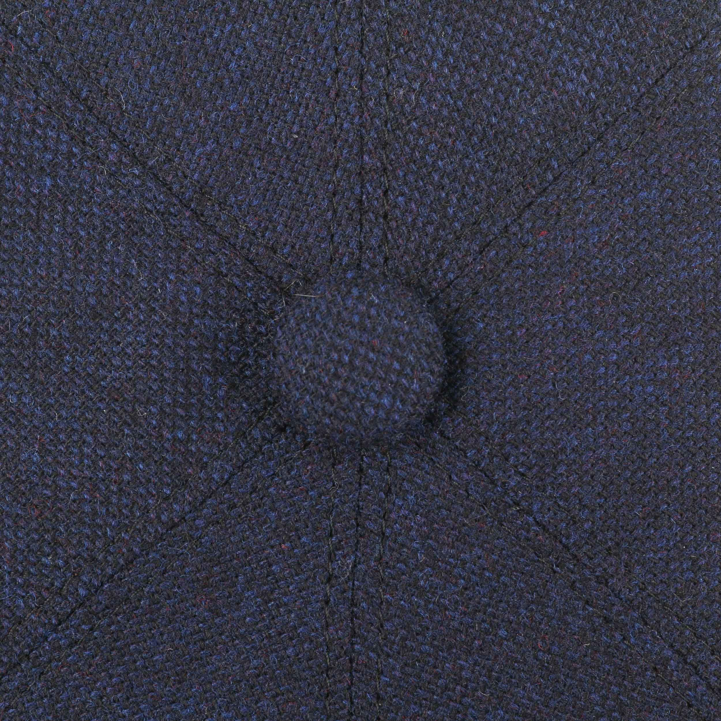 Brooklin Wool Cashmere Flatcap dunkelblau