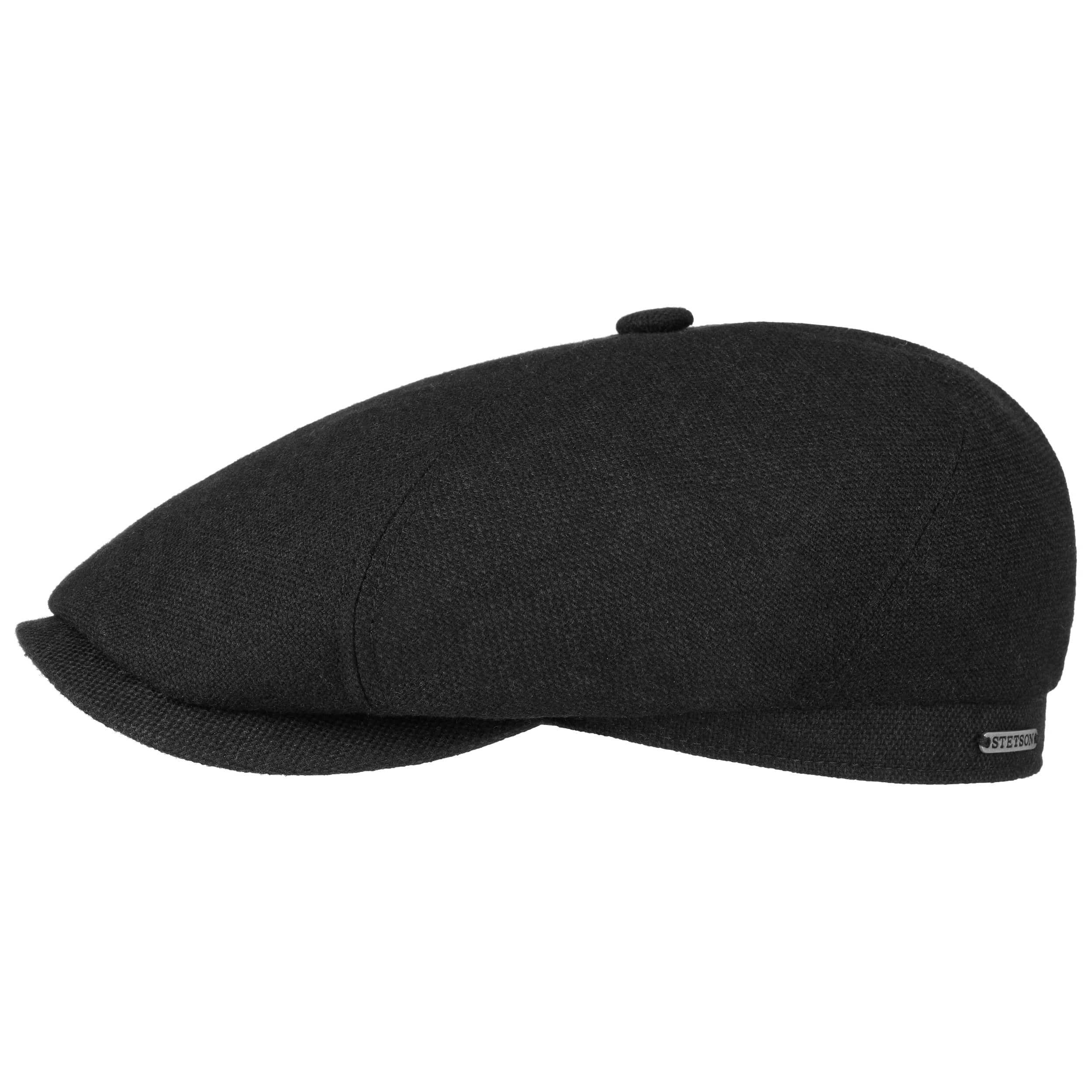 Brooklin Wool Cashmere Flat Cap black
