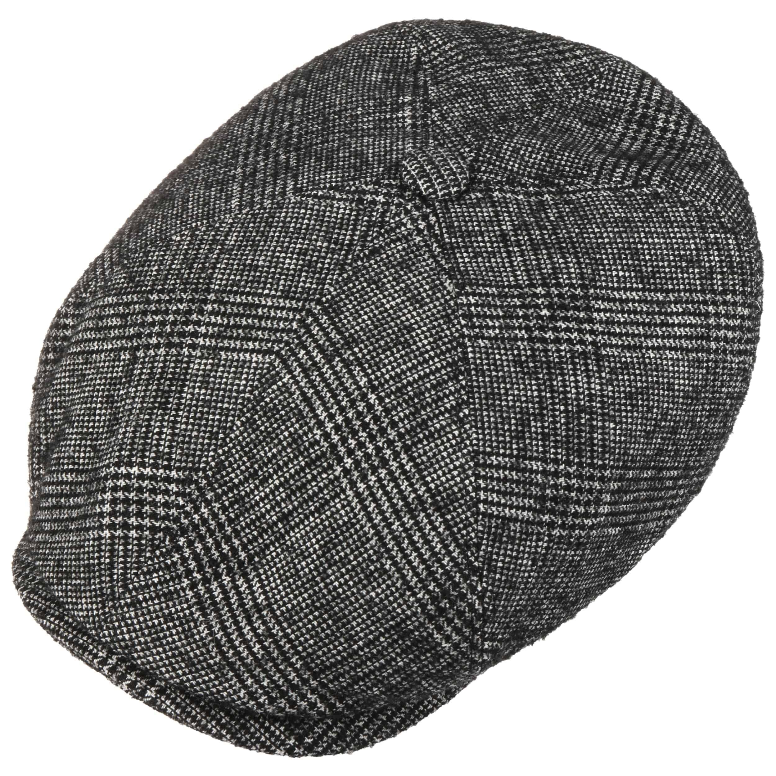 Brooklin Bouclé Flat Cap black-white