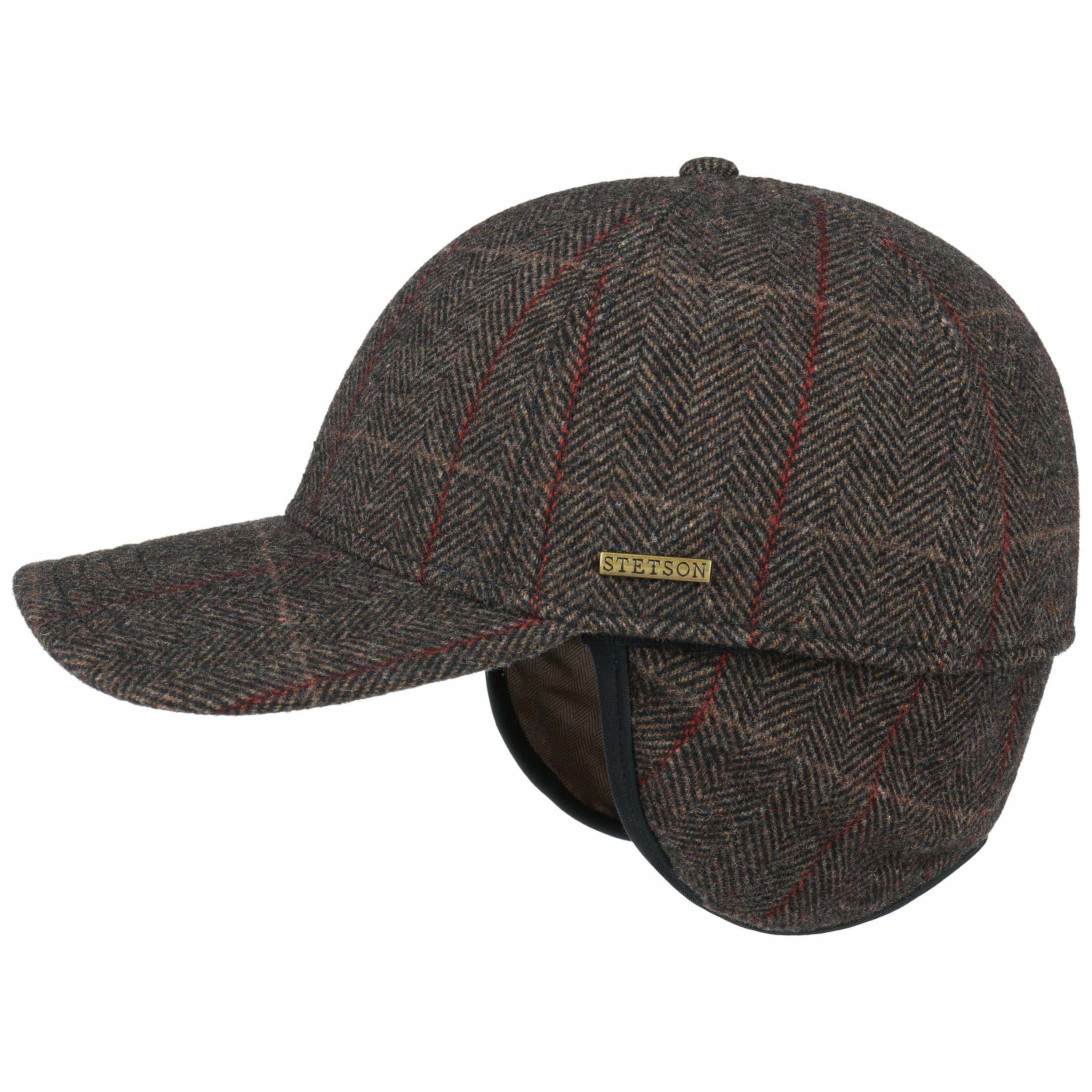 Stetson Kinty Wool Cap With Ear Flaps Brown Stetson Eu
