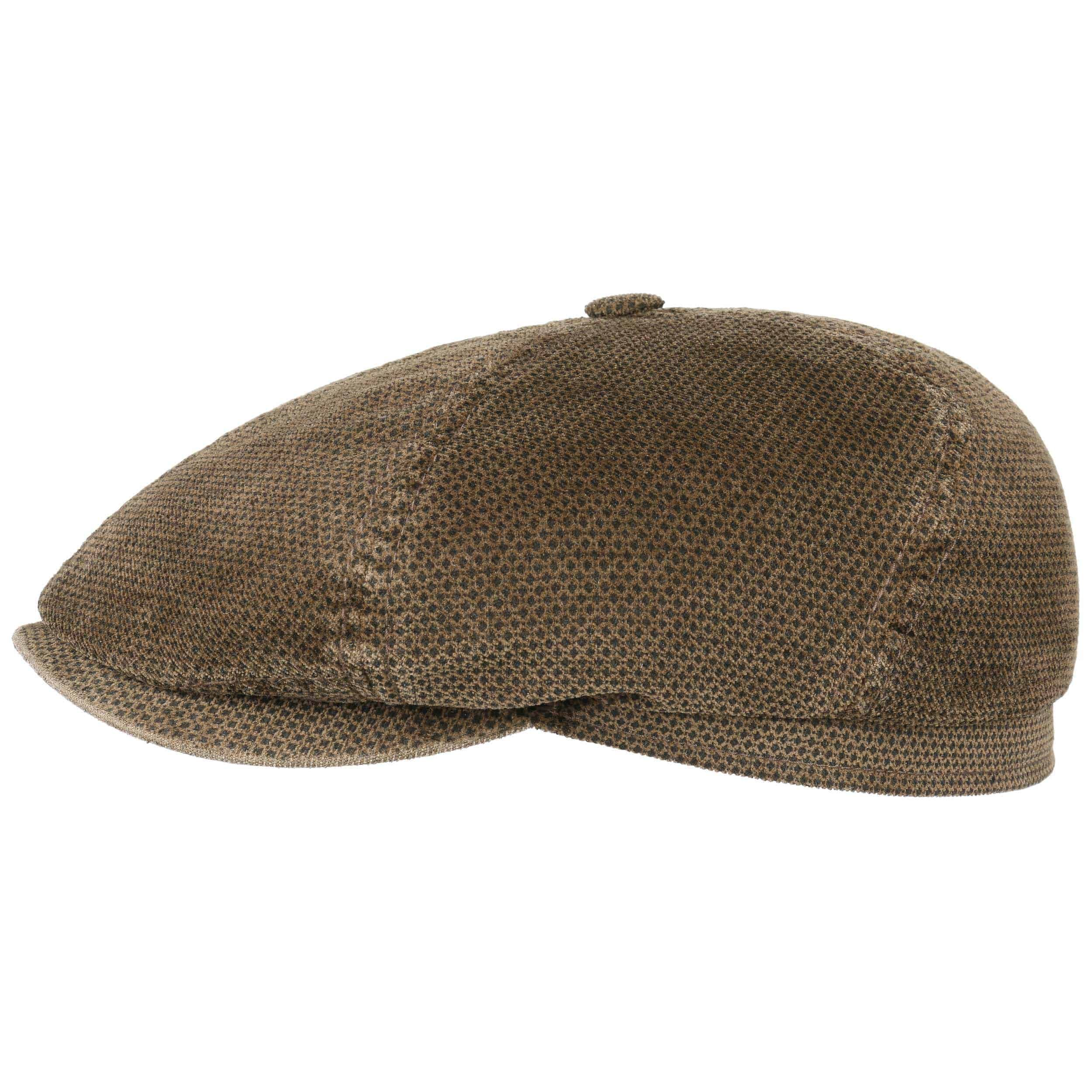 Brooklin Printed Corduroy Flat Cap brown