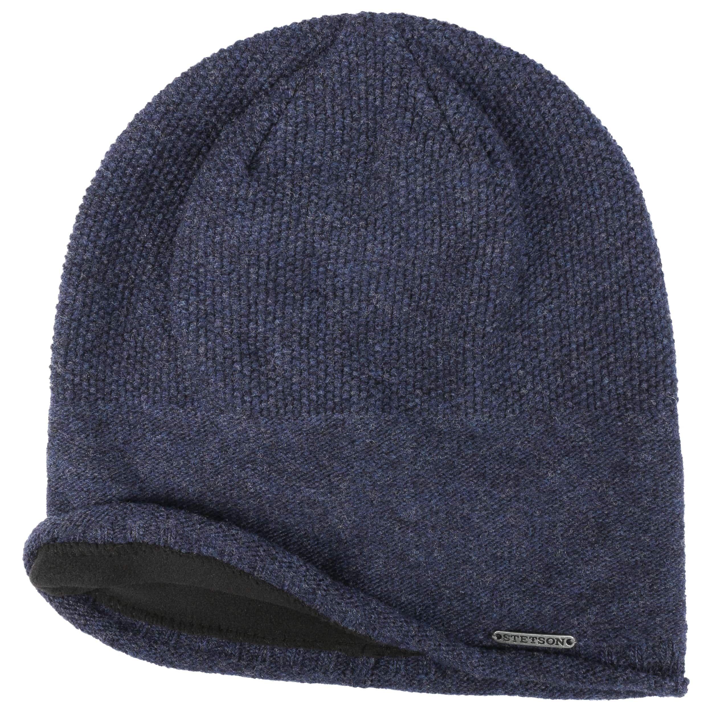 Dicata Wool Beanie mit Futter dunkelblau