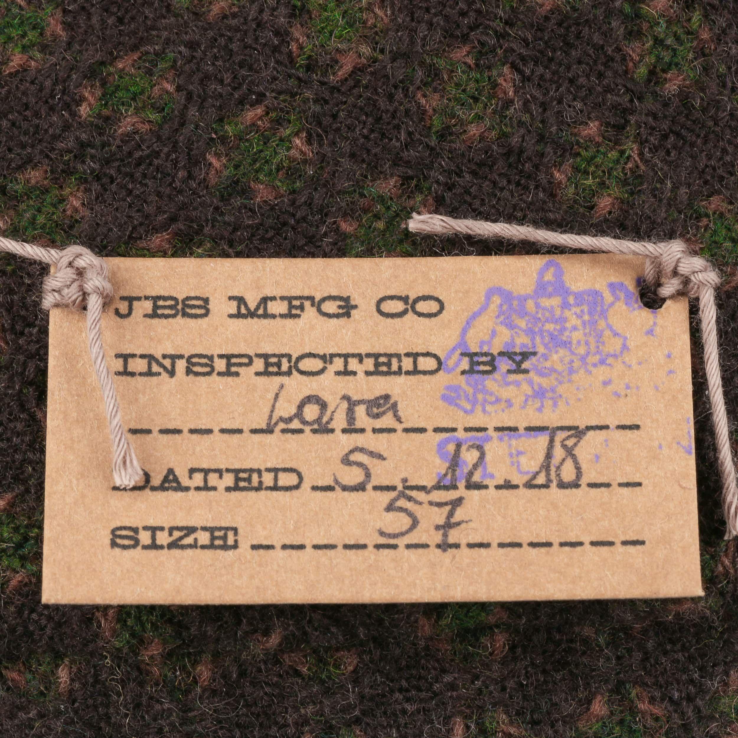 Glenn Wool Flatcap braun-oliv