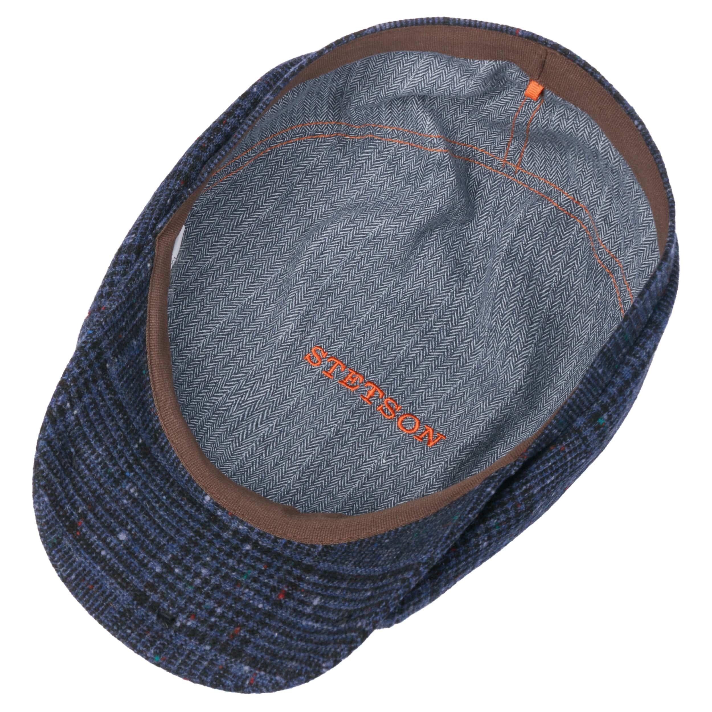 Hatteras Wool Neps Flatcap schwarz-blau
