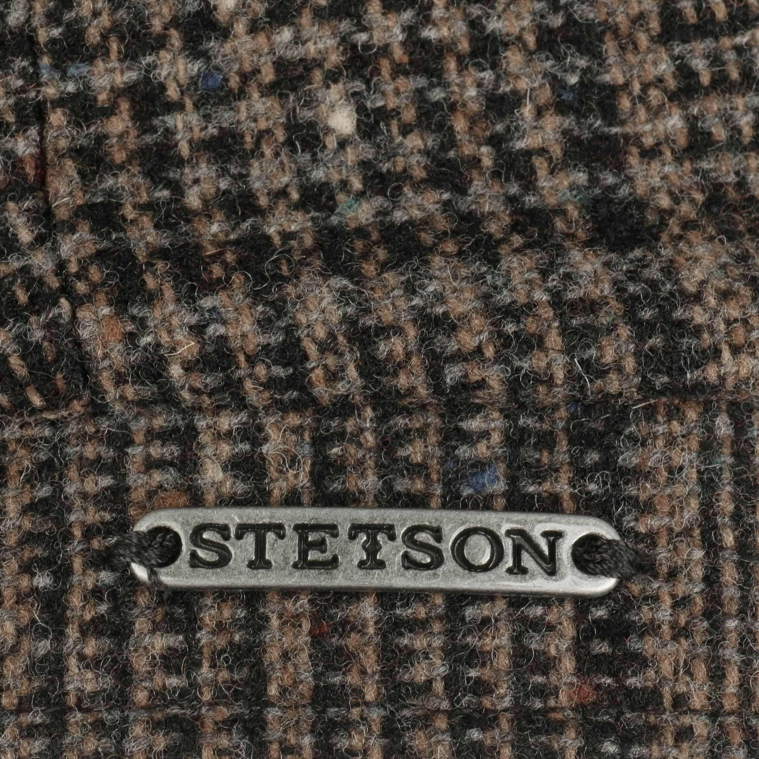 Hatteras Wool Neps Flatcap schwarz-beige