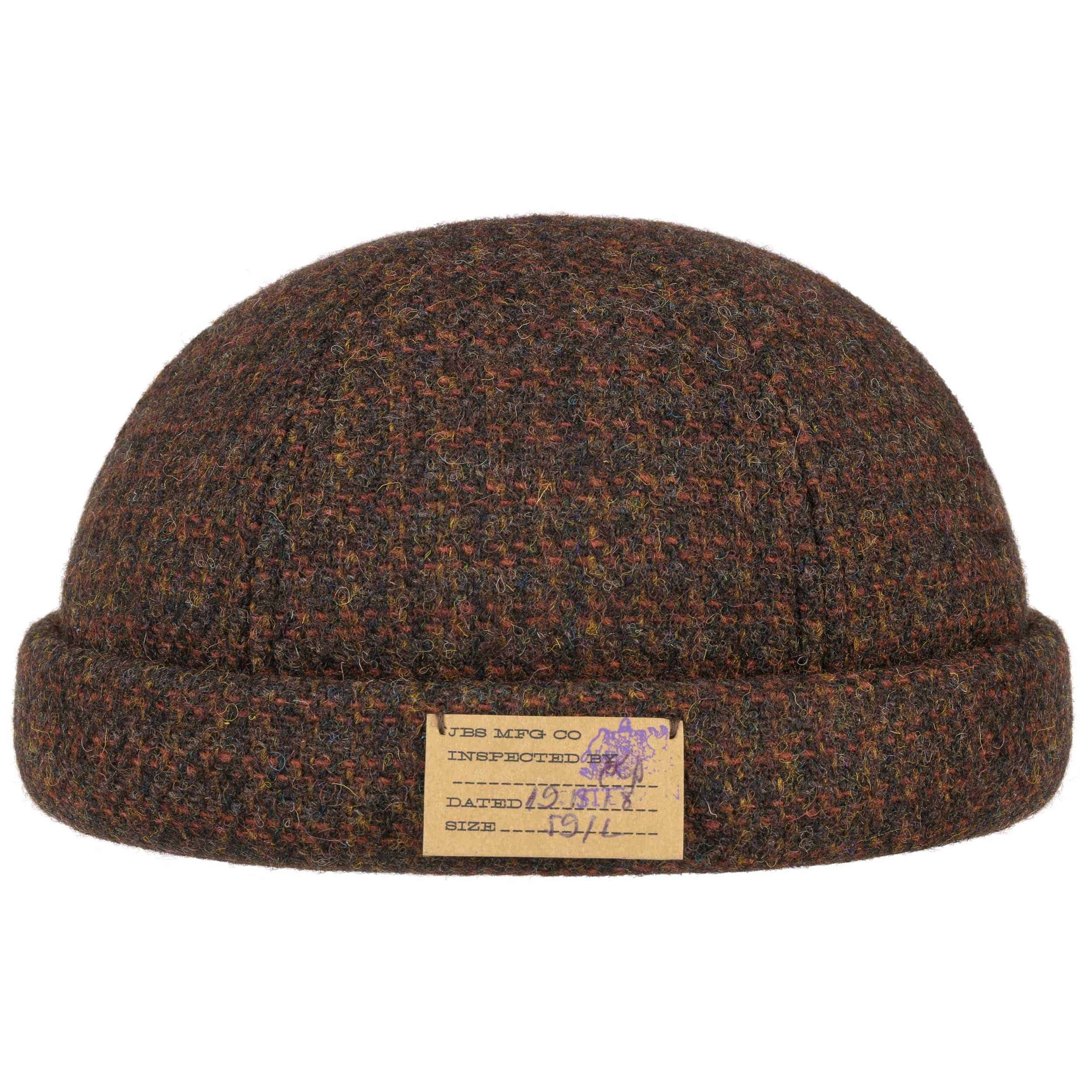 Classic Harris Tweed Docker Hat brown-mottled