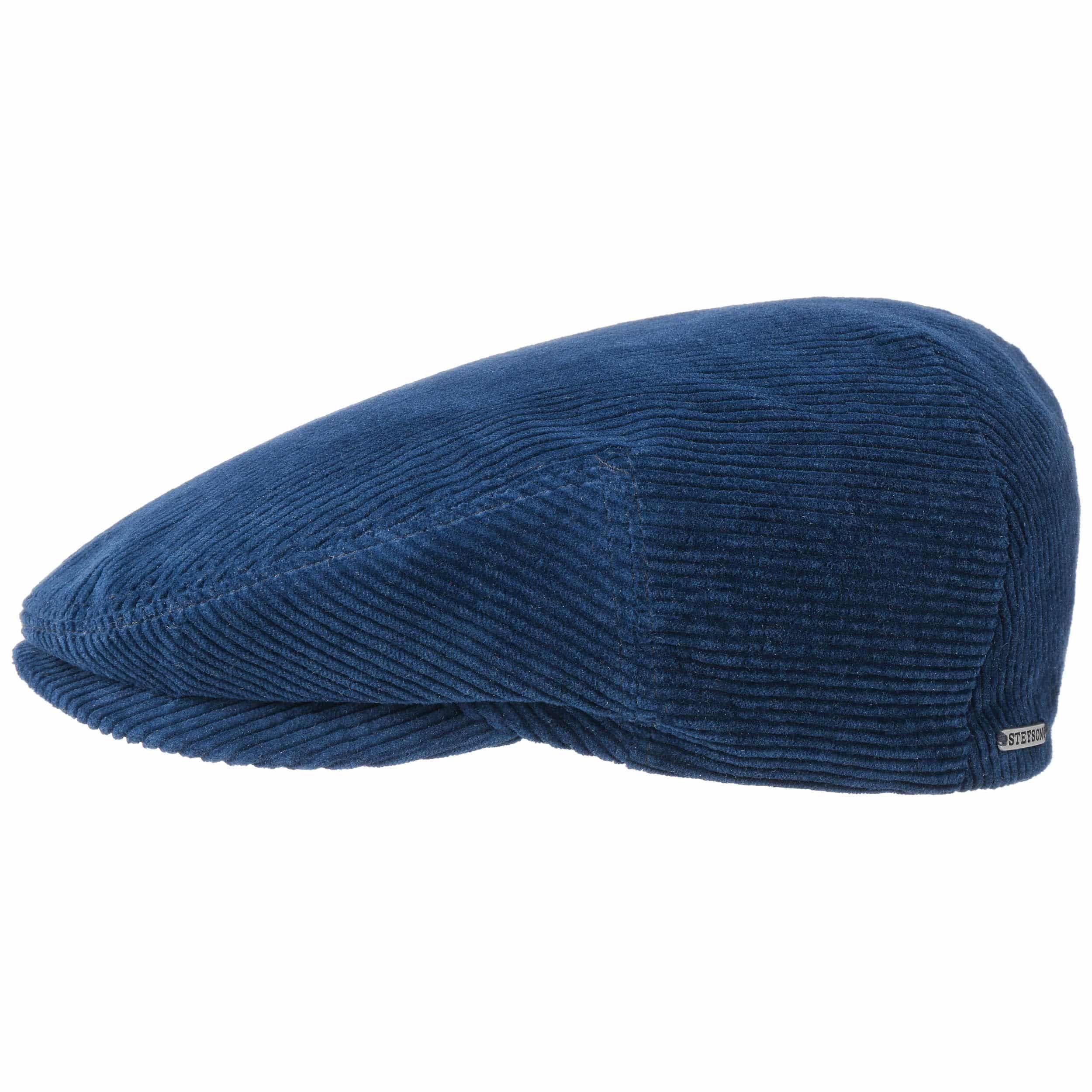 Kent Cord Classic Flatcap blau