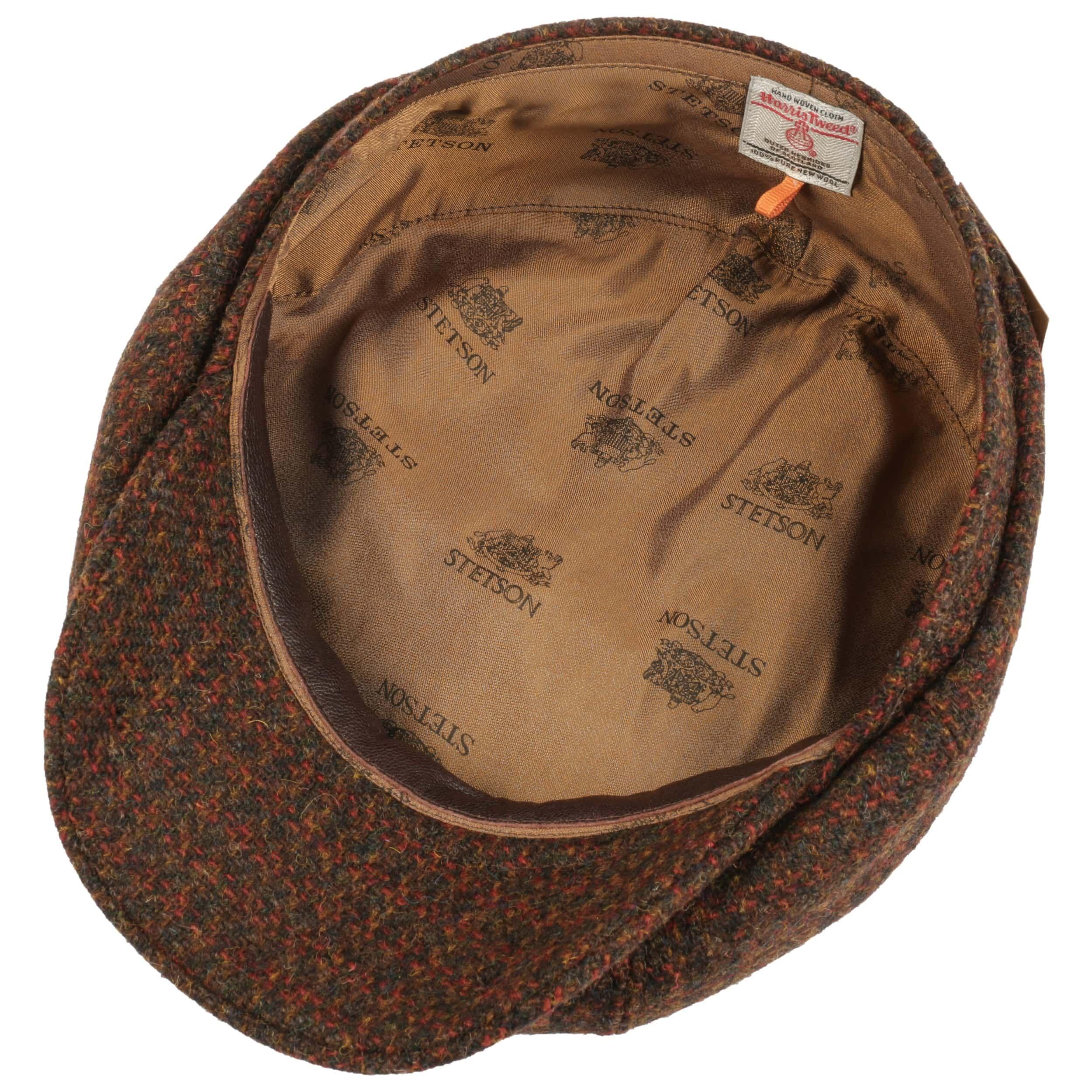 Hatteras Cubert Harris Tweed Flatcap braun-meliert