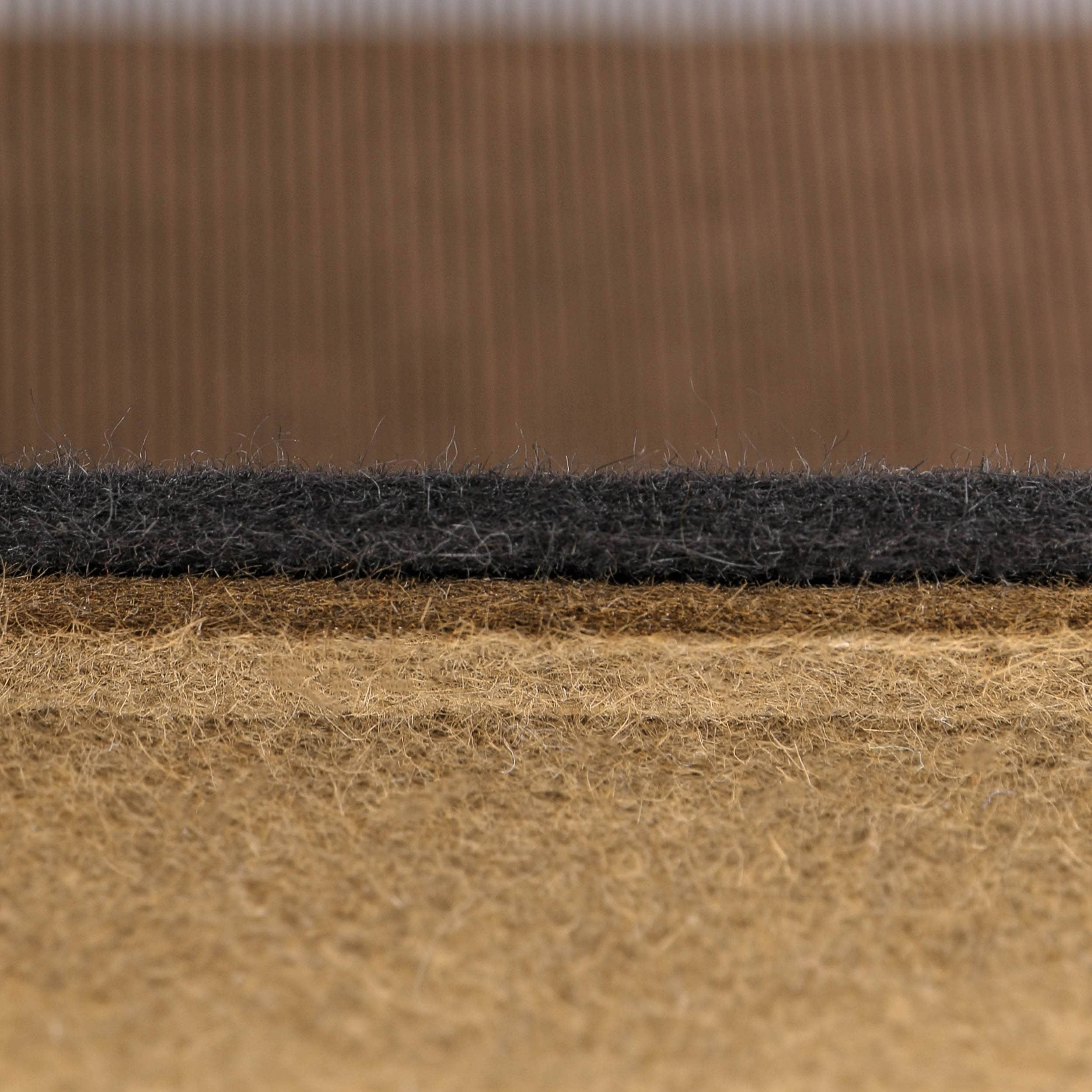 Double Fedora Haarfilzhut grau-braun