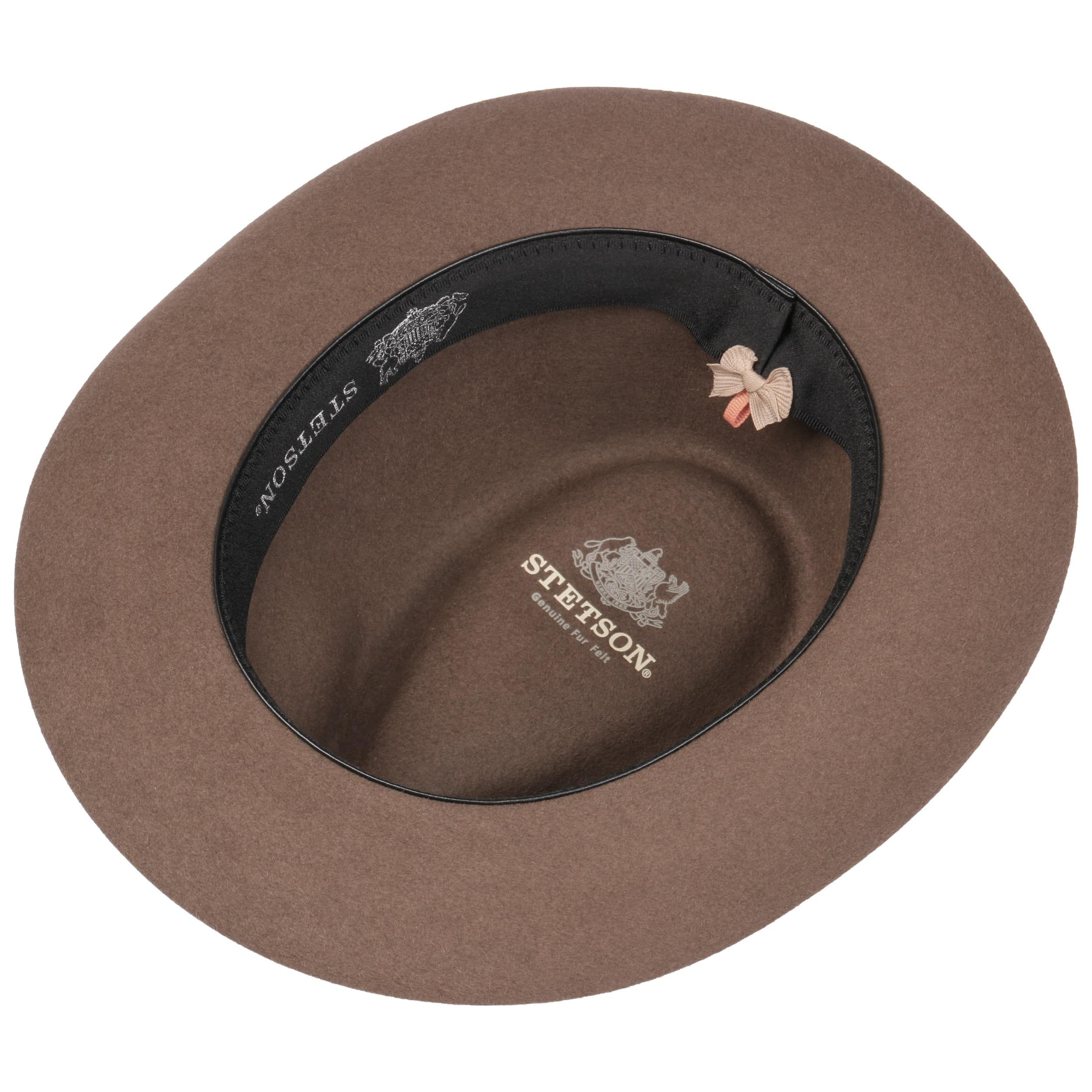 Verdale Fedora Fur Felt Hat light brown