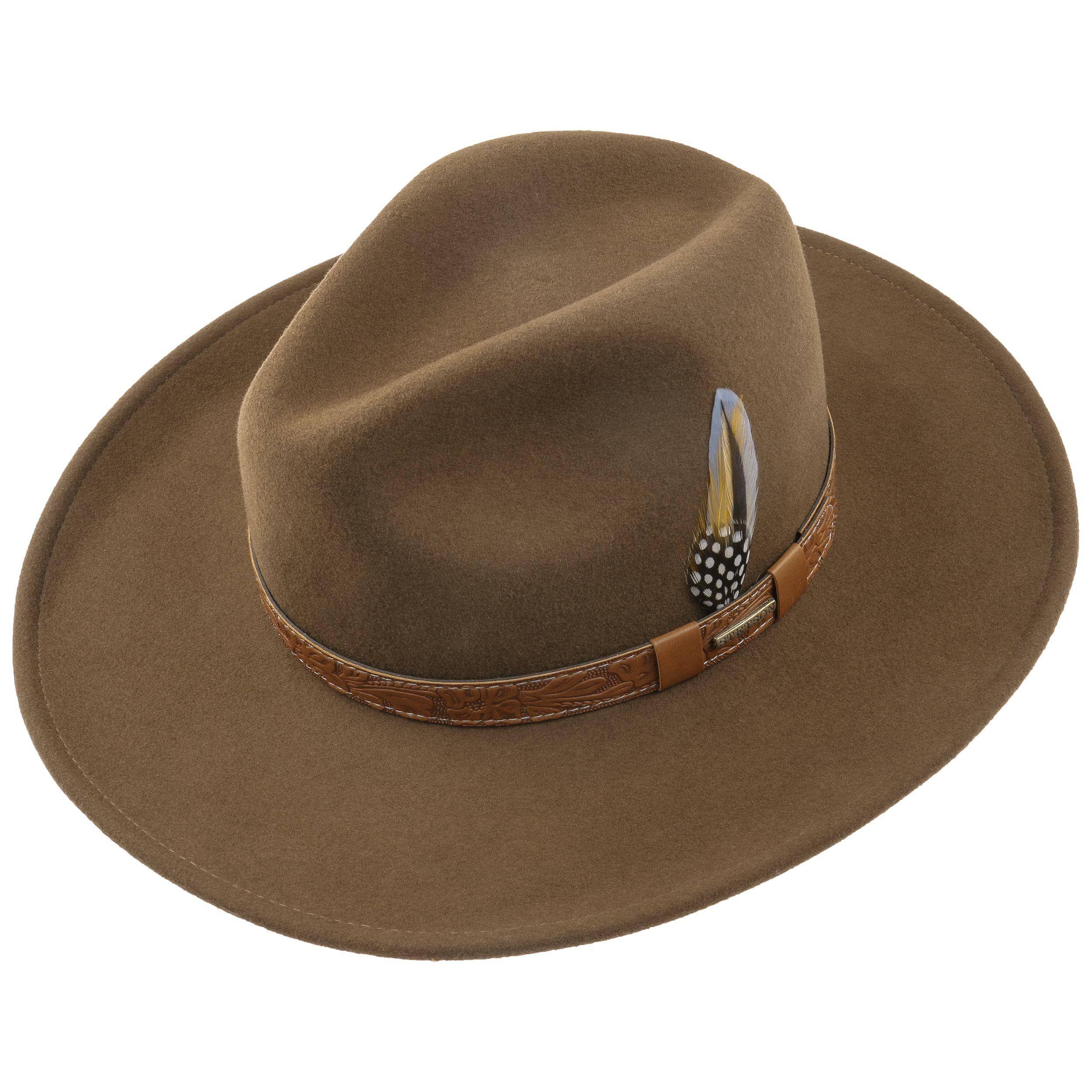 Wide Brim VitaFelt Cowboy Hat brown