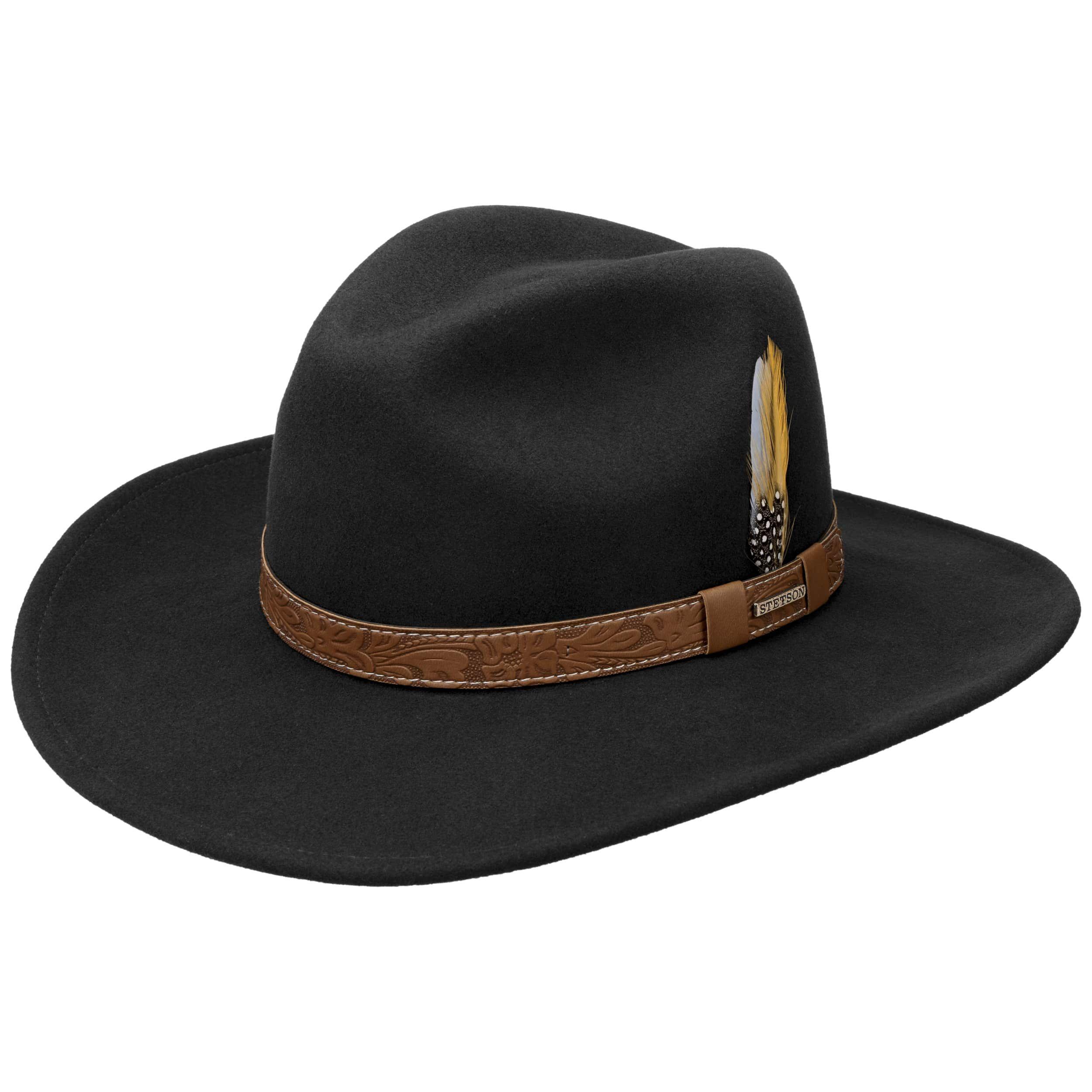 Wide Brim VitaFelt Cowboy Hat black