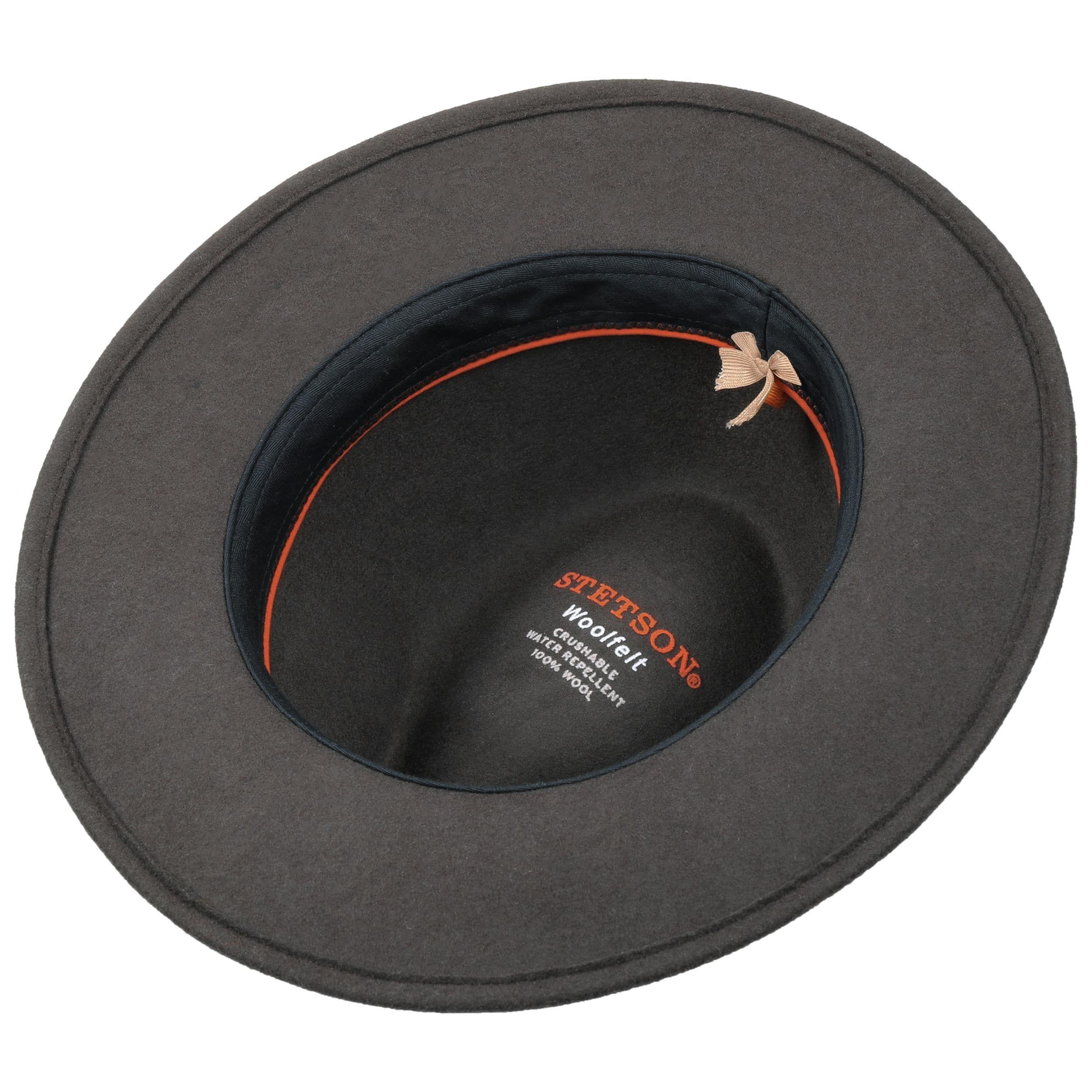 Terrick Traveller Wool Felt Hat dark brown
