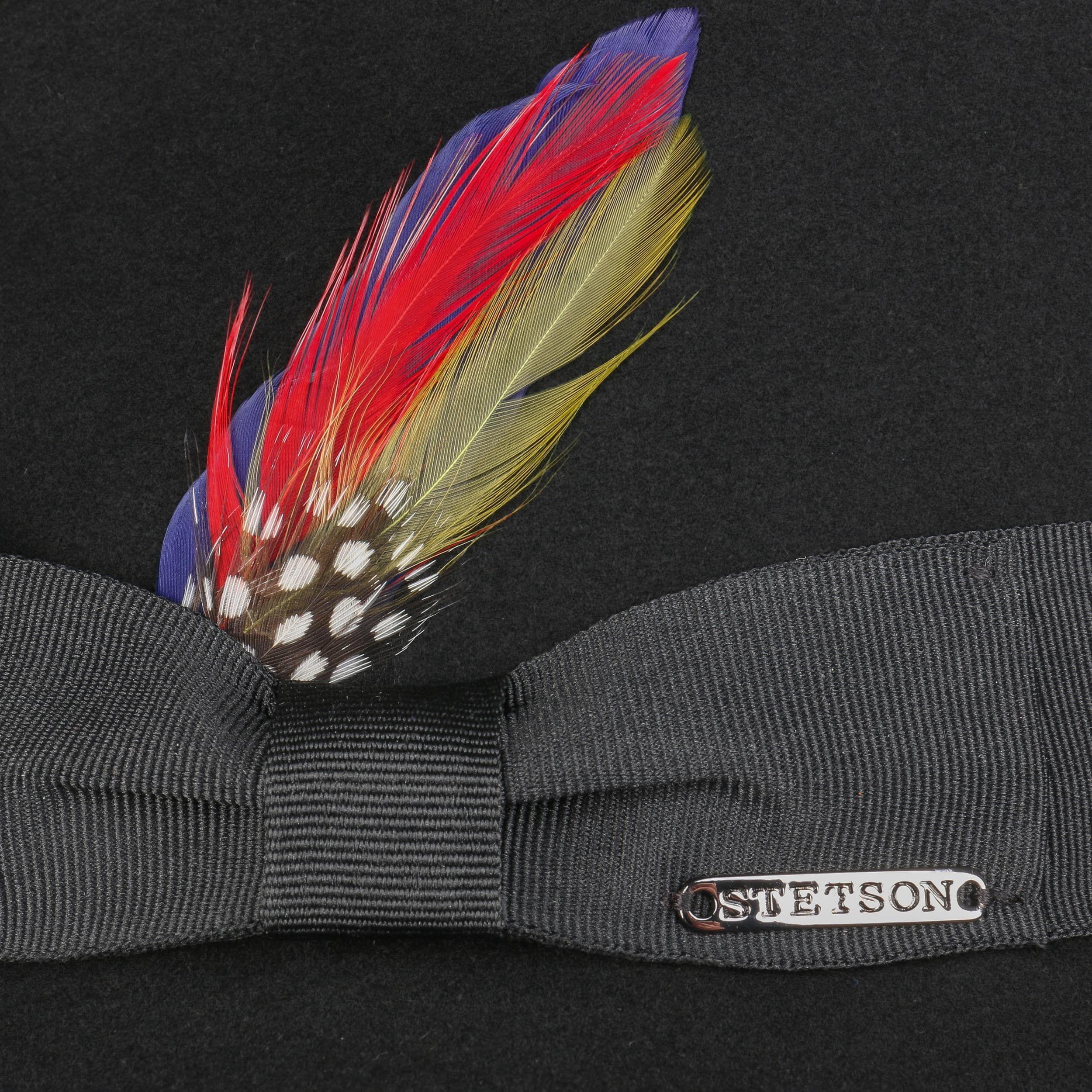 Wool & Cashmere Fedora Hut schwarz