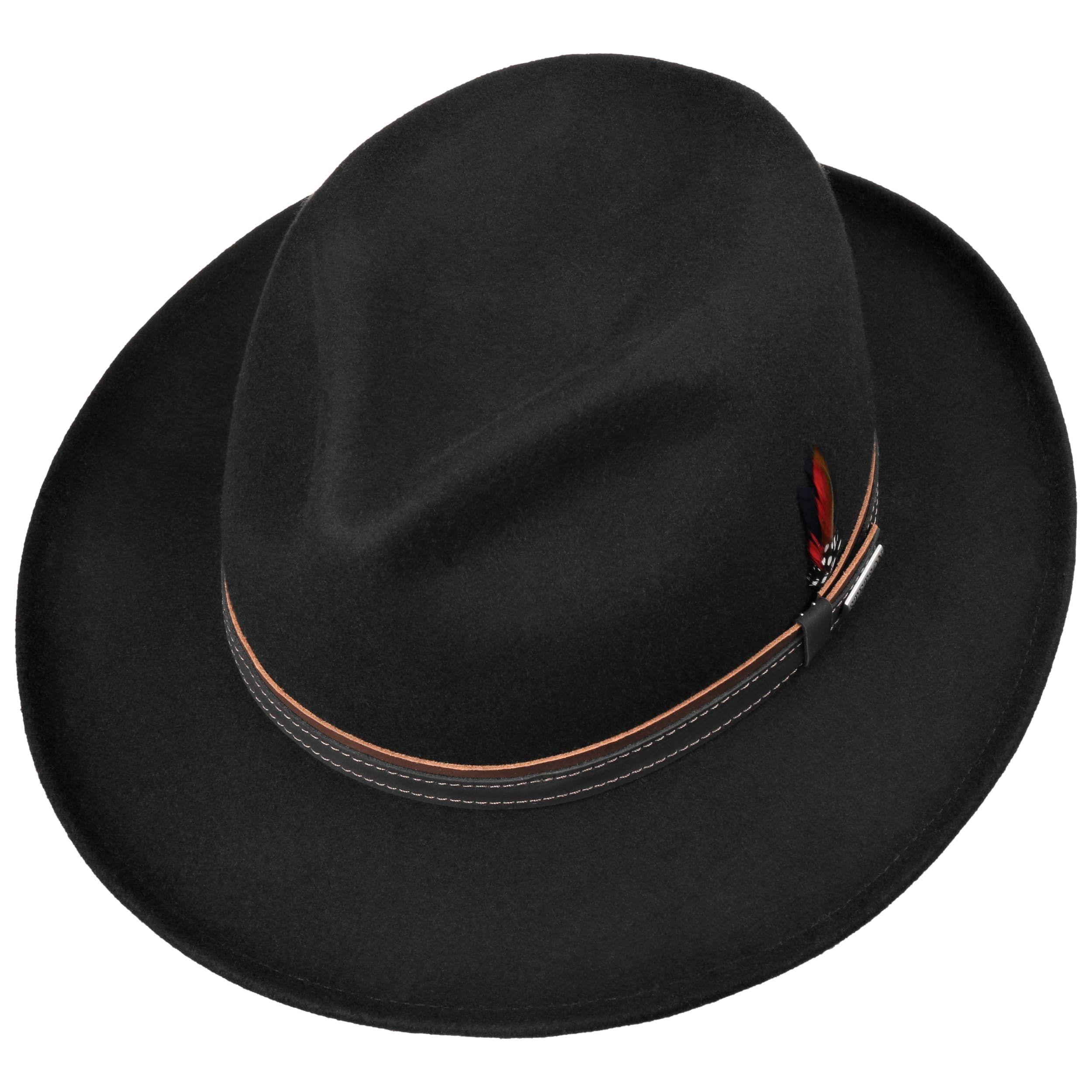 Darico Fedora Wool Felt Hat black