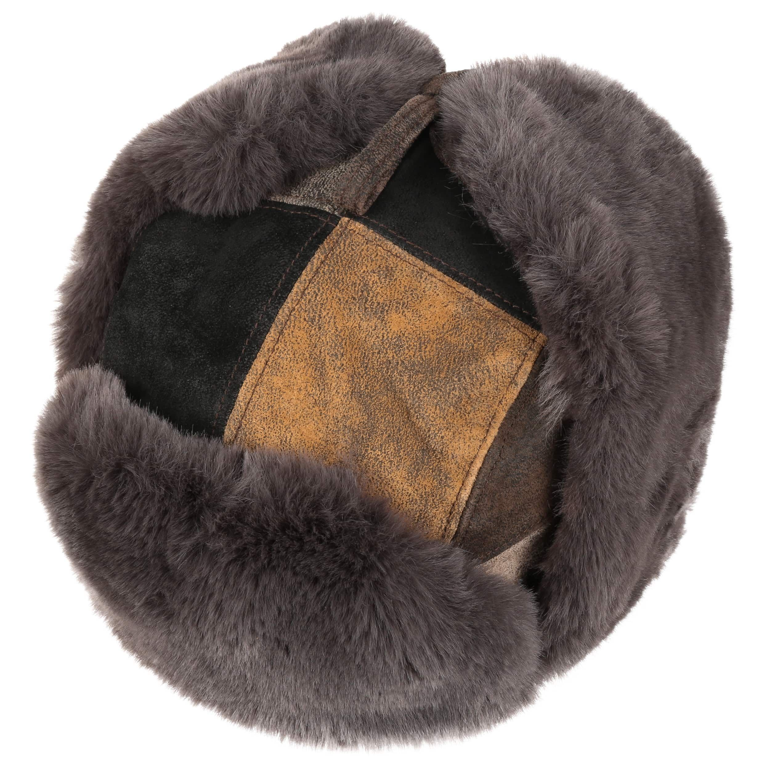 Chapka Pigskin Patchwork marron-noir