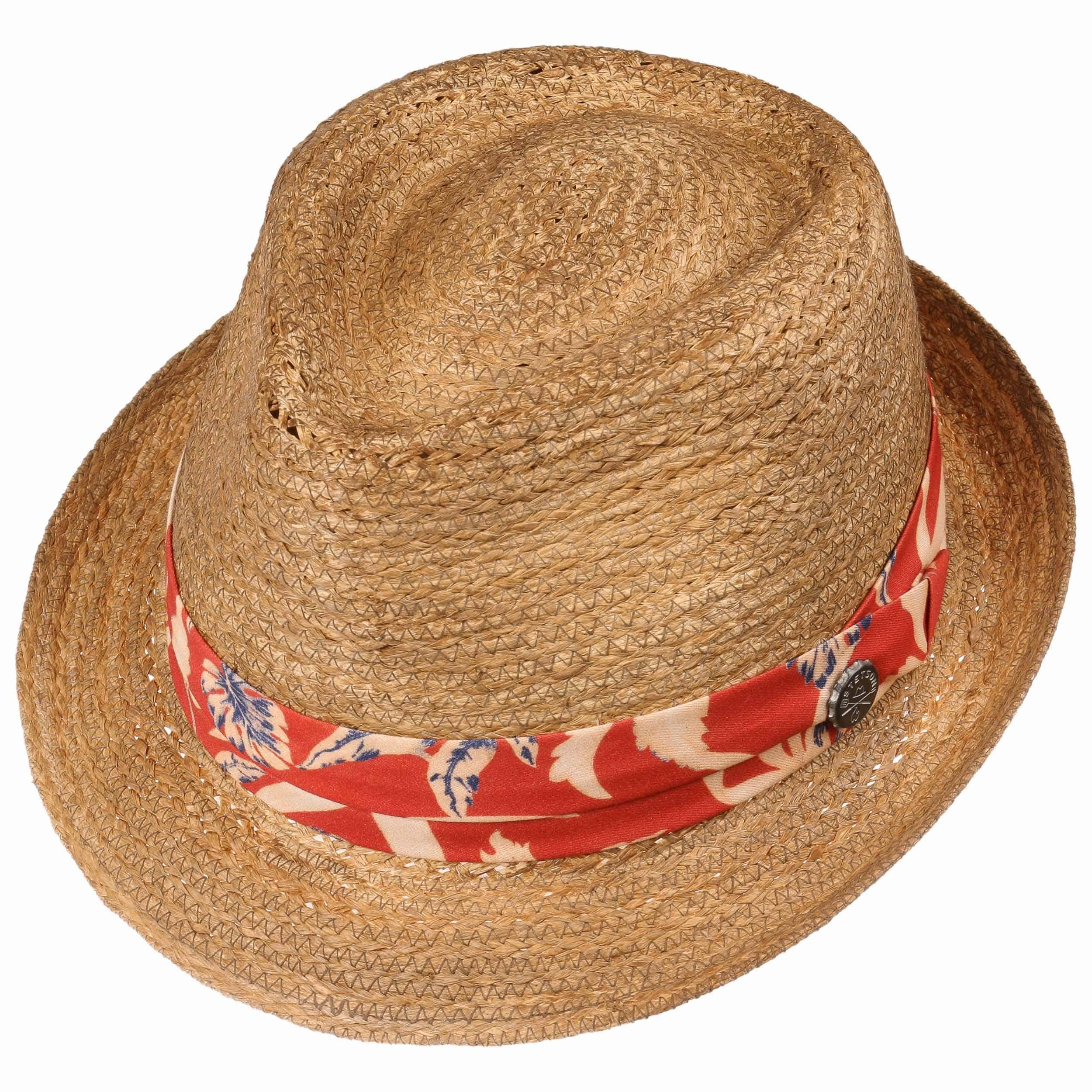 BBQ Trilby Raffia Straw Hat nature