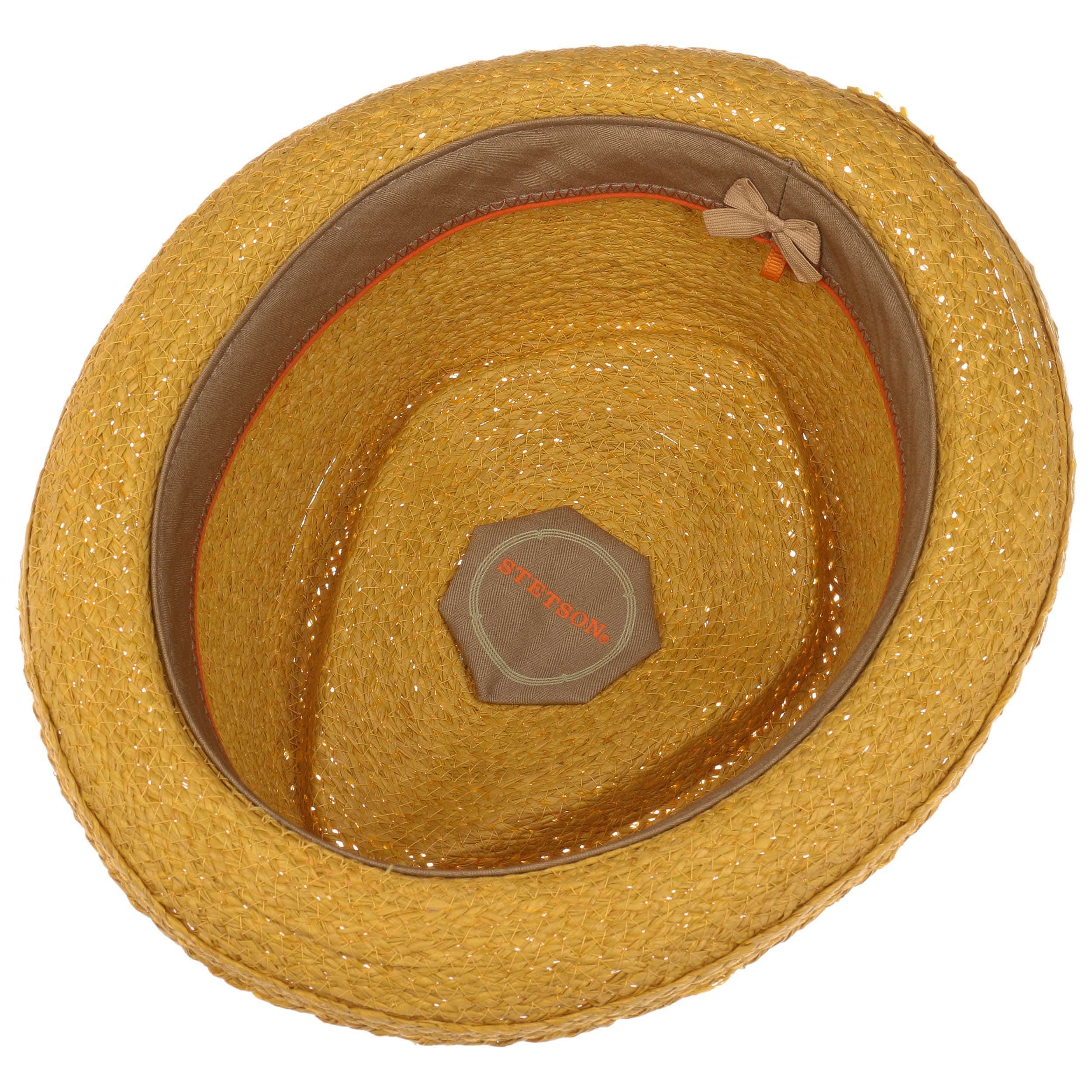 Salango Diamond Raffia Hoed geel