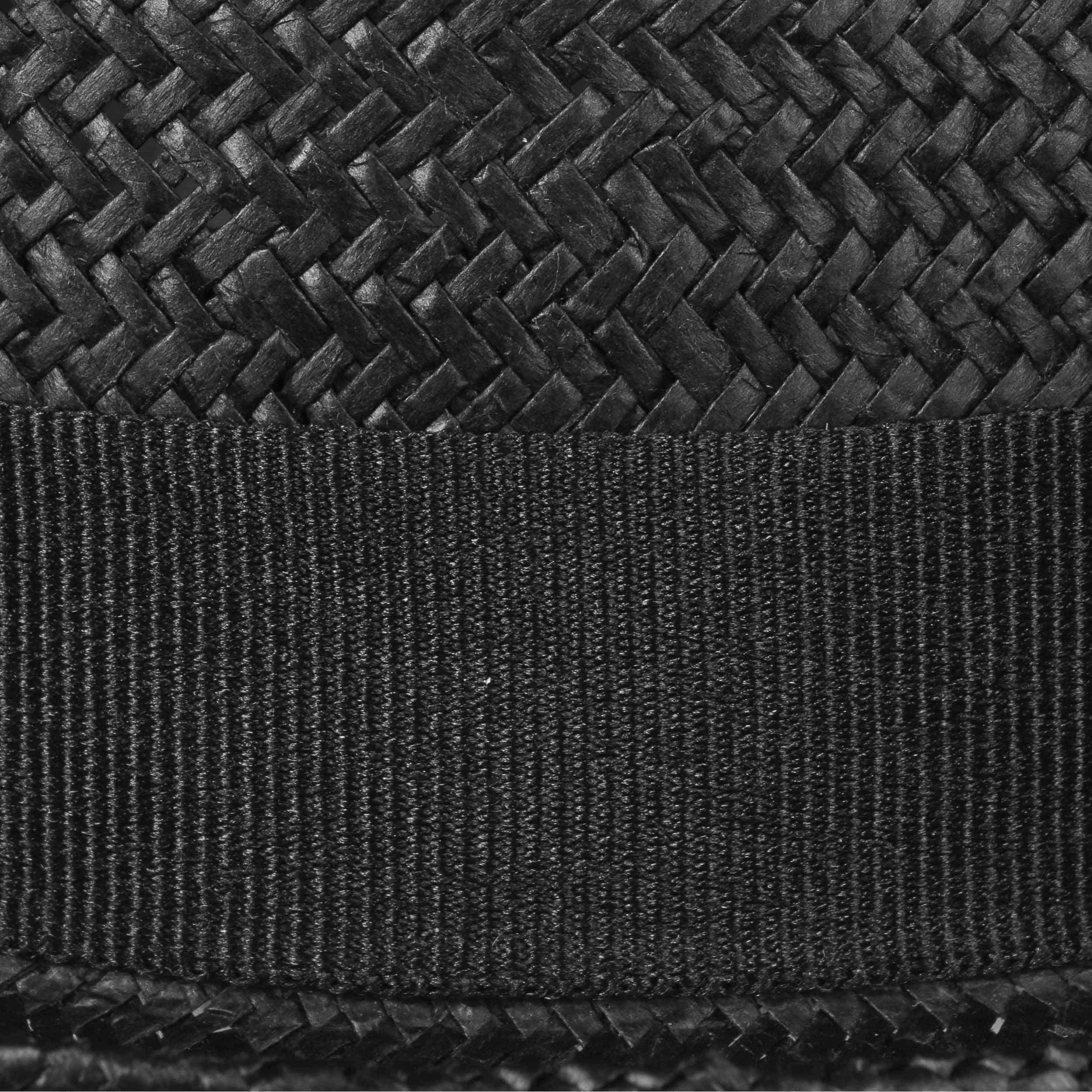 Classic Toyo Pork Pie Straw Hat black