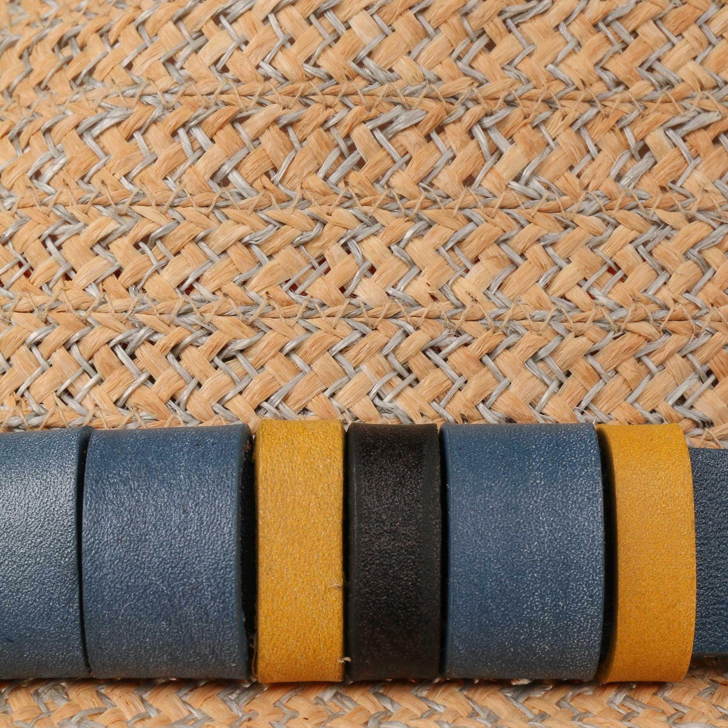 Benfield Fedora Strohoed naturel-grijs