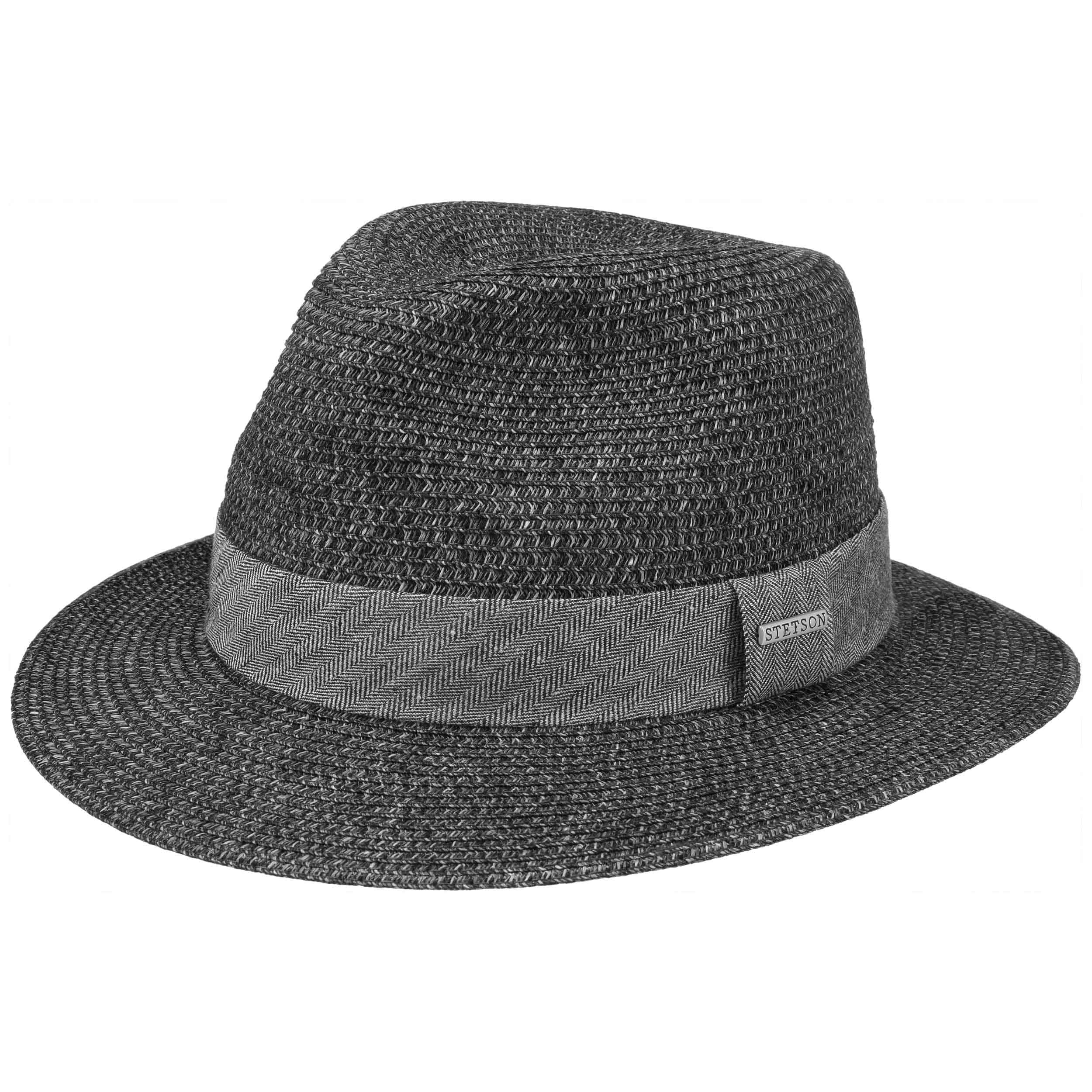 Chapeau en Paille Nark Toyo anthracite-noir