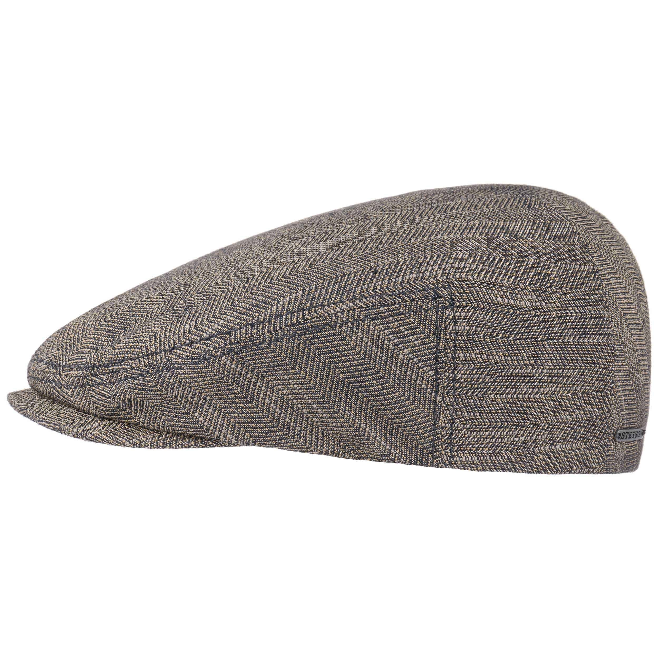 Woodfield Classic Flatcap dunkelbeige-meliert