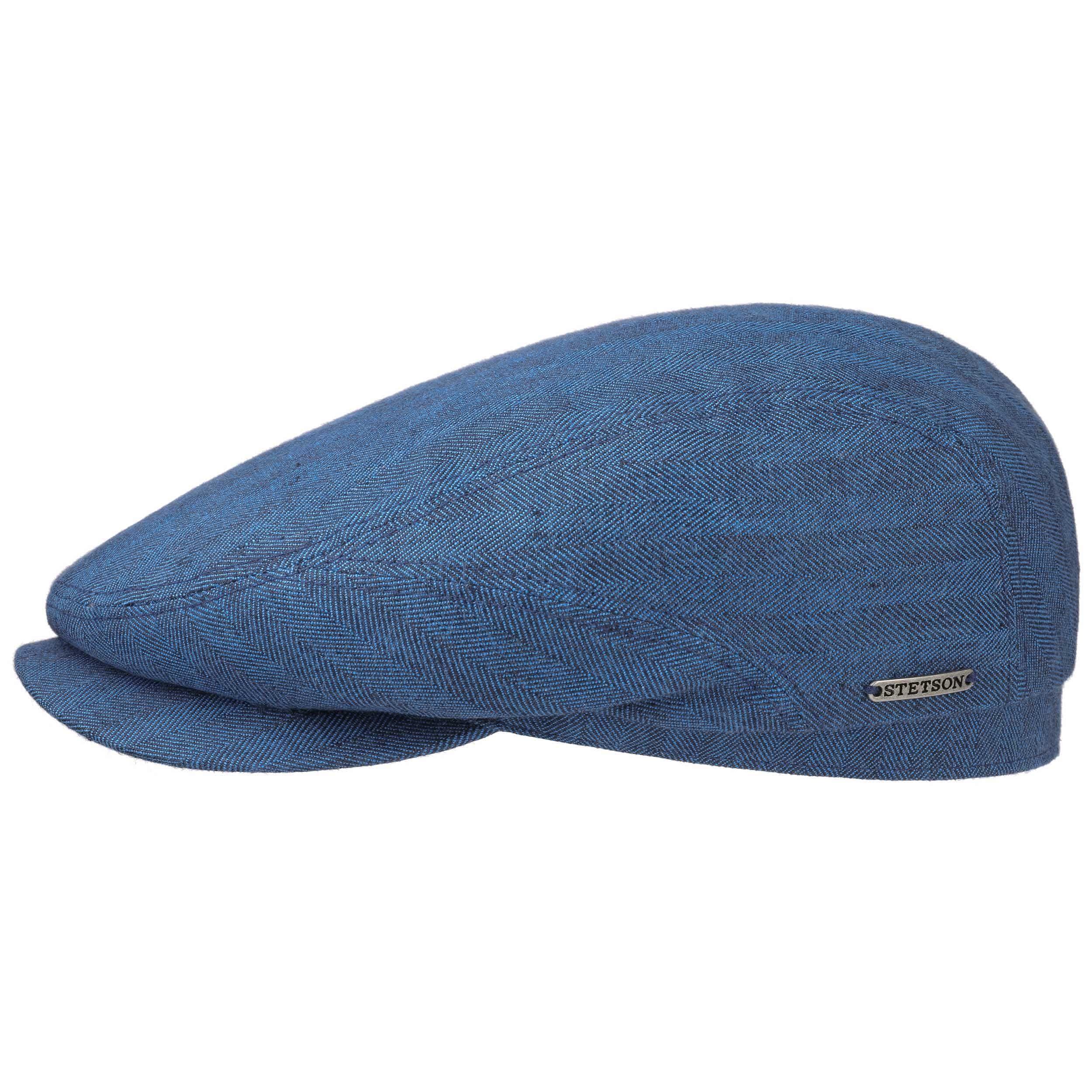 Belfast Cotton-Mix Flatcap blau
