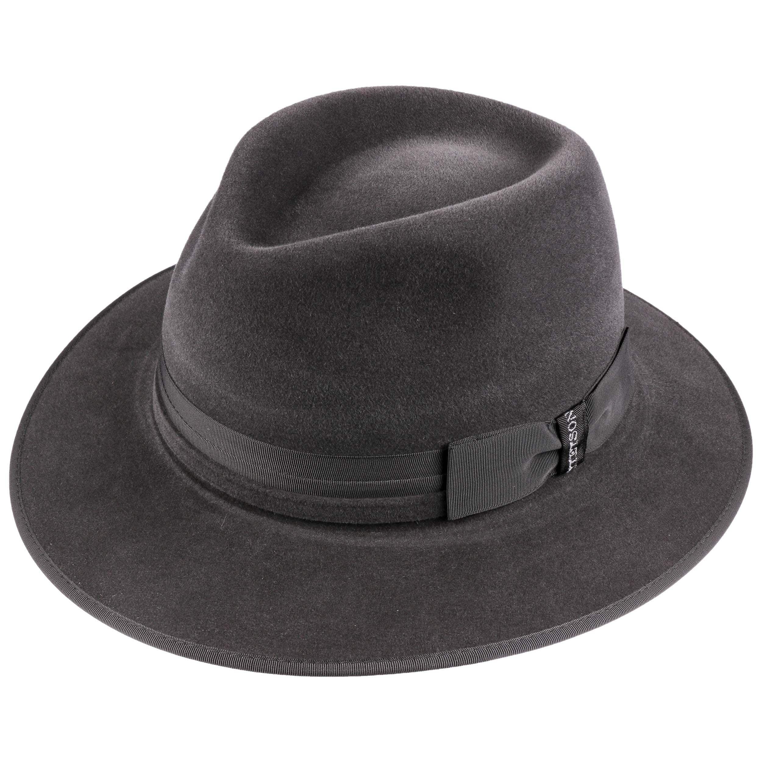Stuart Traveller Fur Felt Hat anthracite