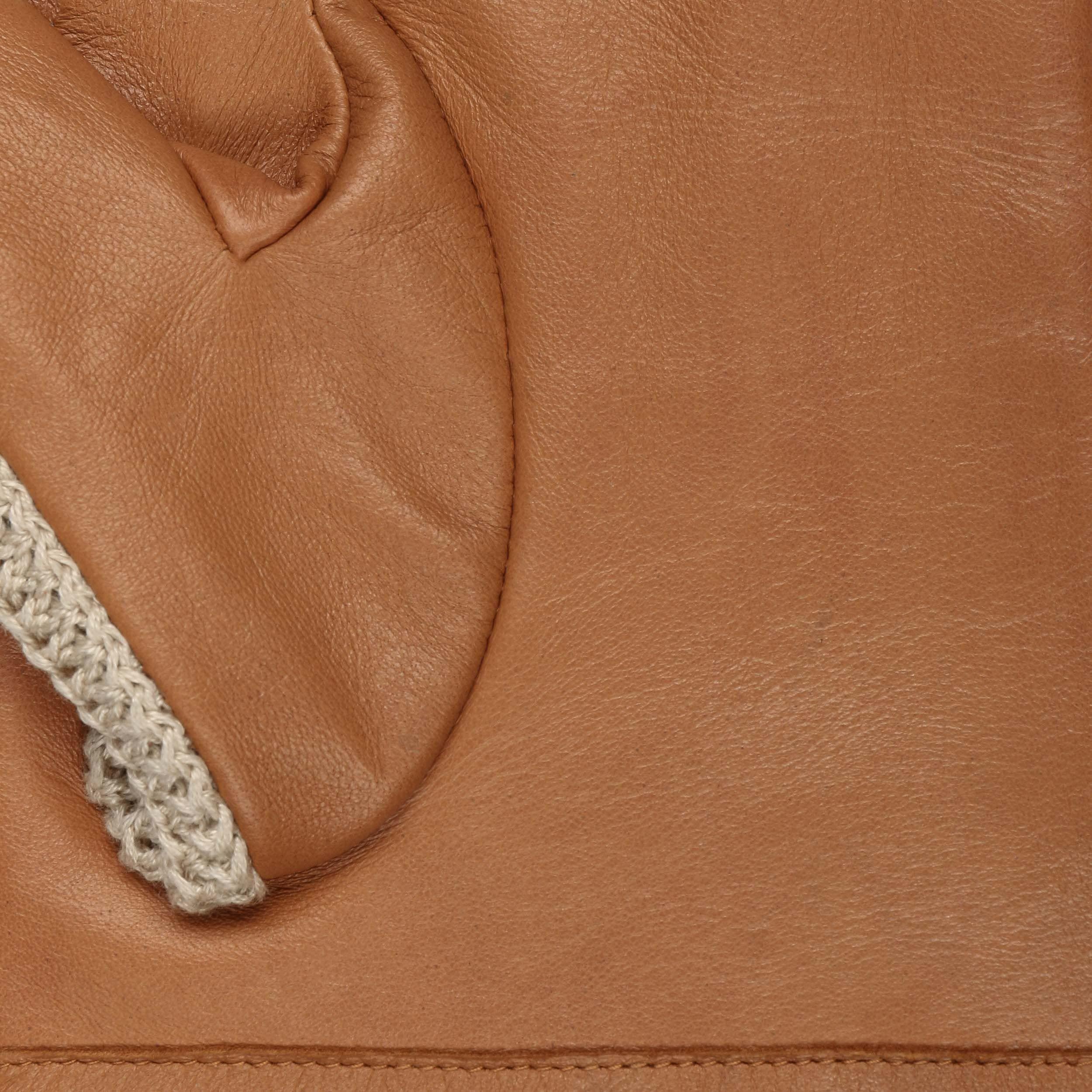 Sheep Nappa & Knit Handschoenen lichtbruin