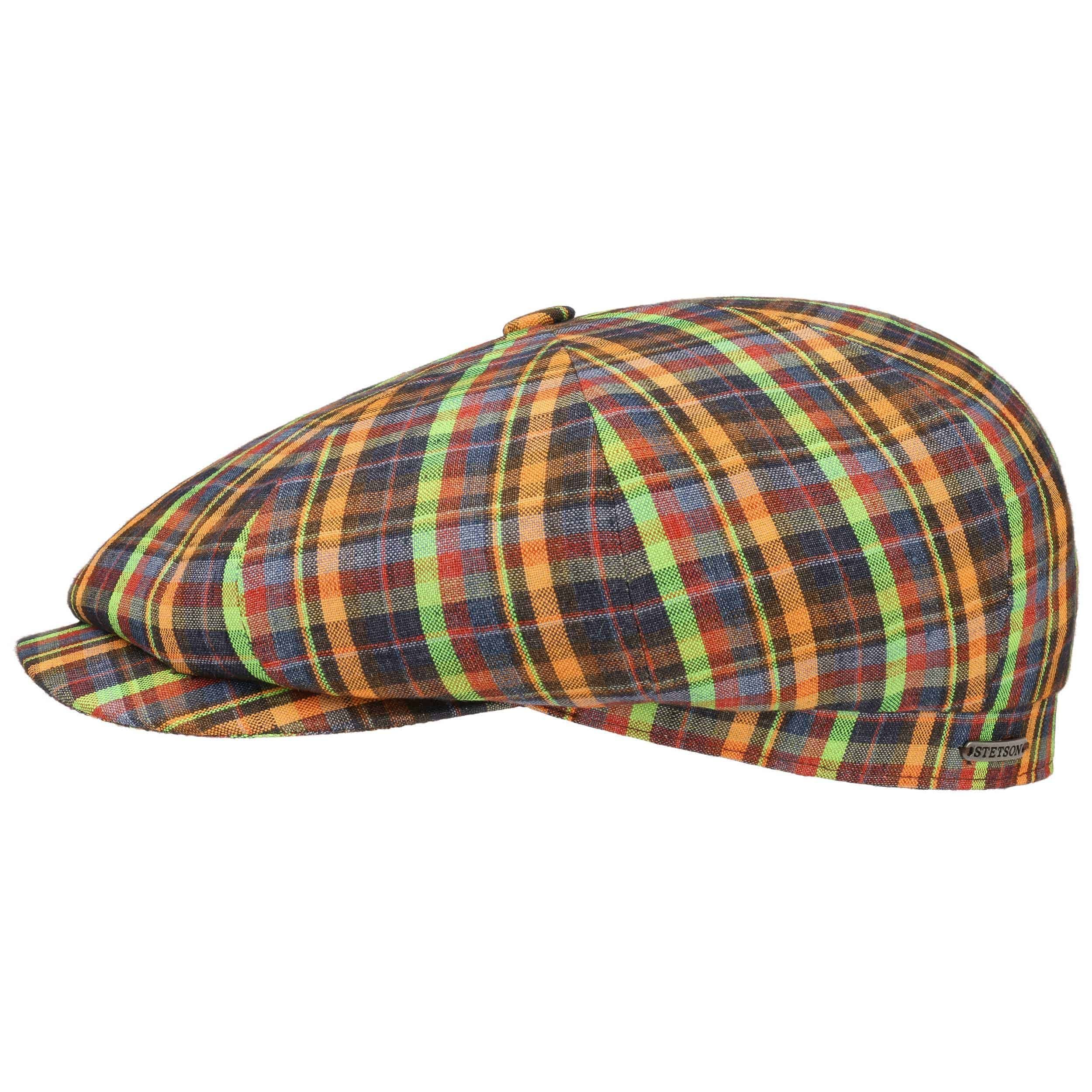 Hatteras Summercheck Flat Cap mixed colours