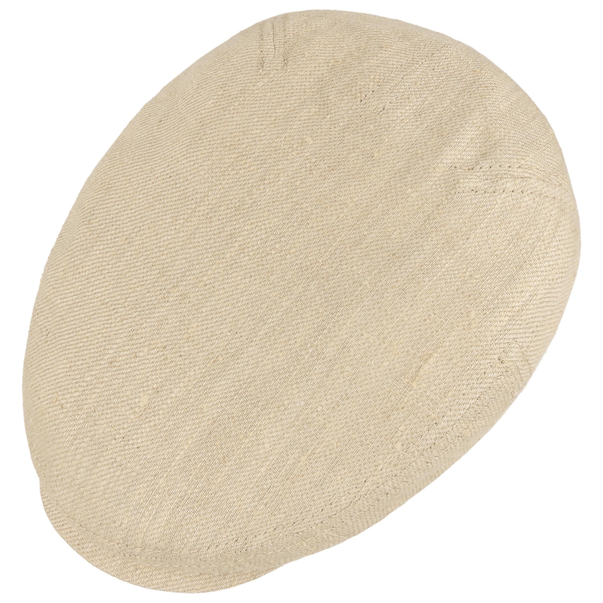 Premium Linen and Silk Flat Cap beige