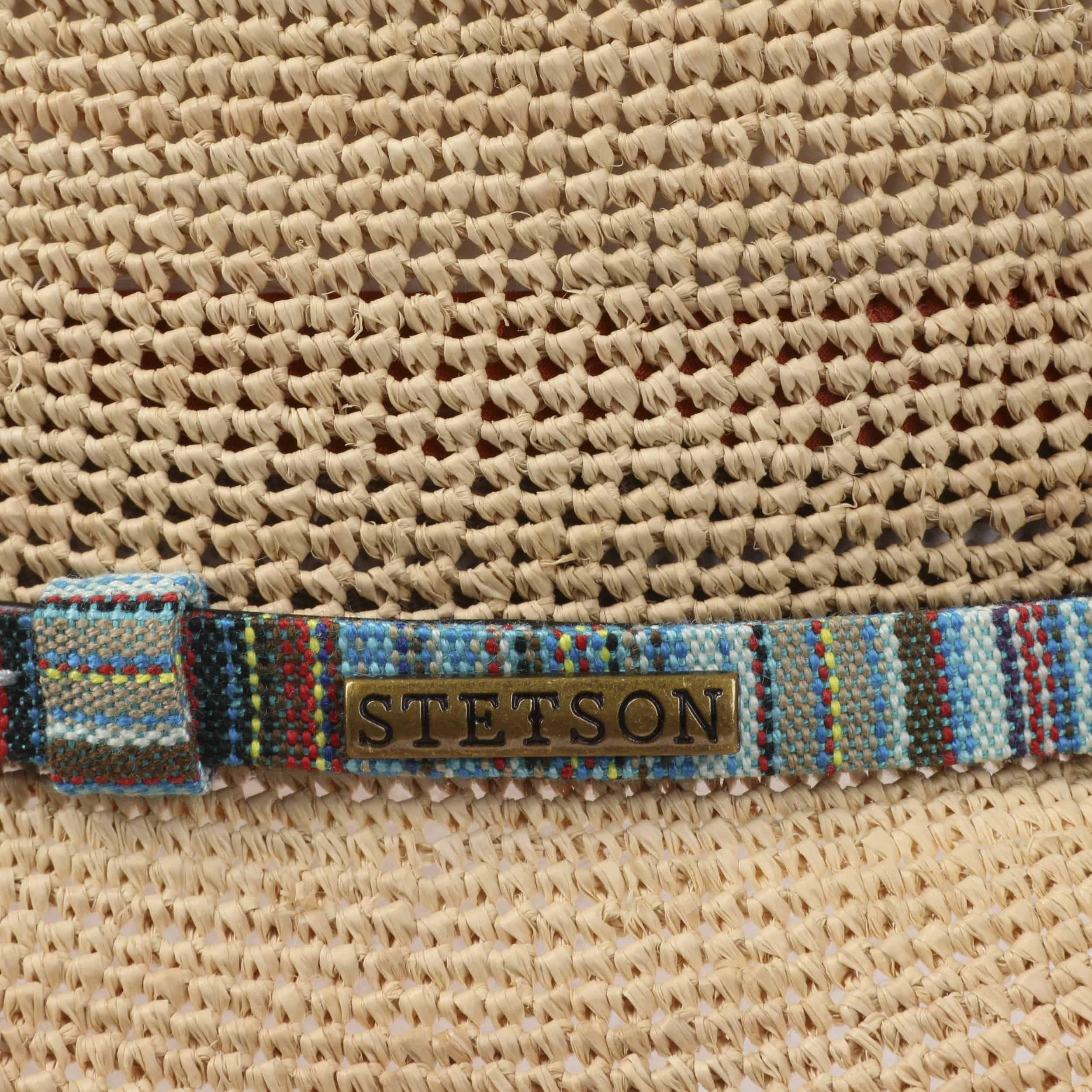 Crochet Western Raffiahut beige