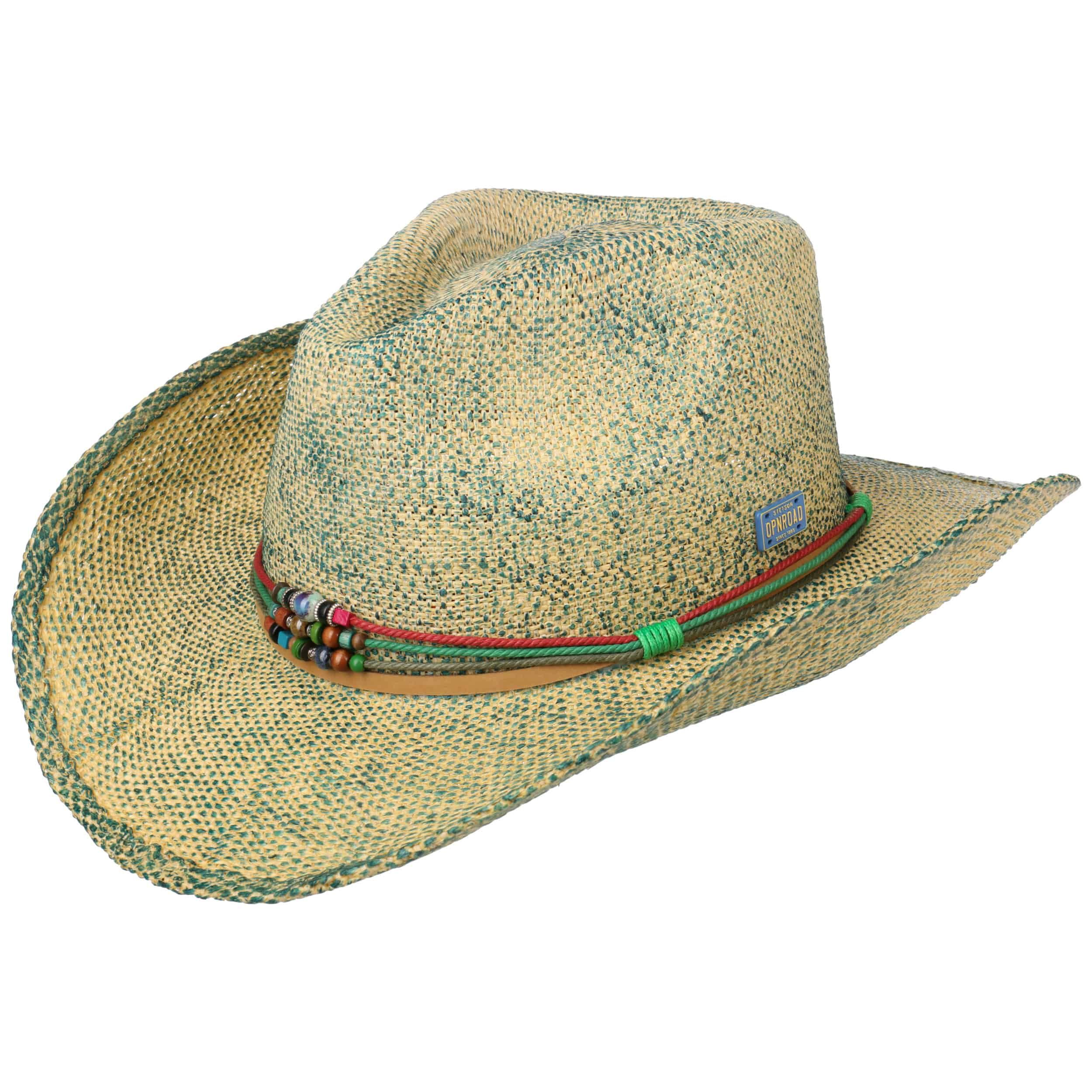 Townsend Toyo Western Hat turquoise-mottled