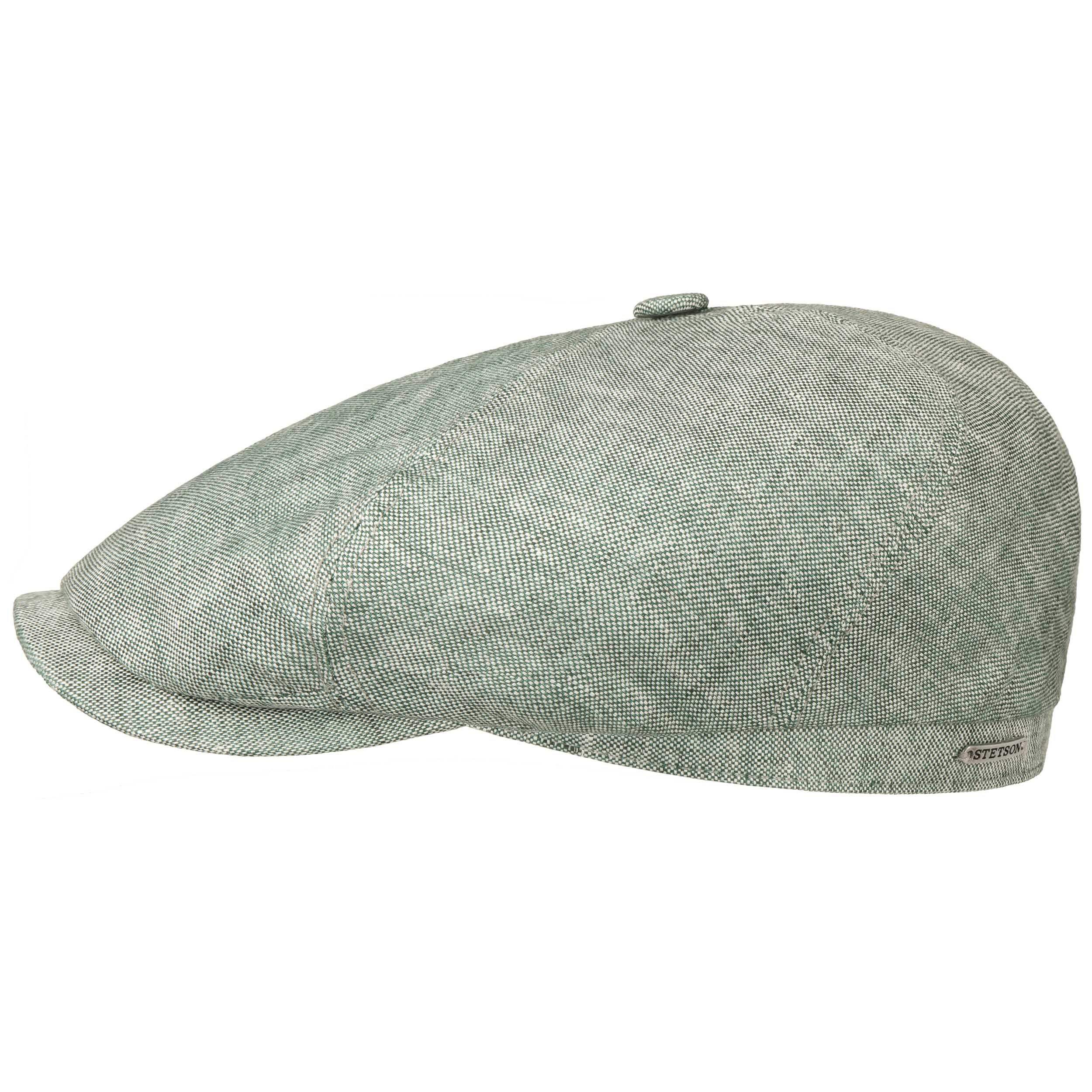 6 Panel Just Linen Flat Cap grey