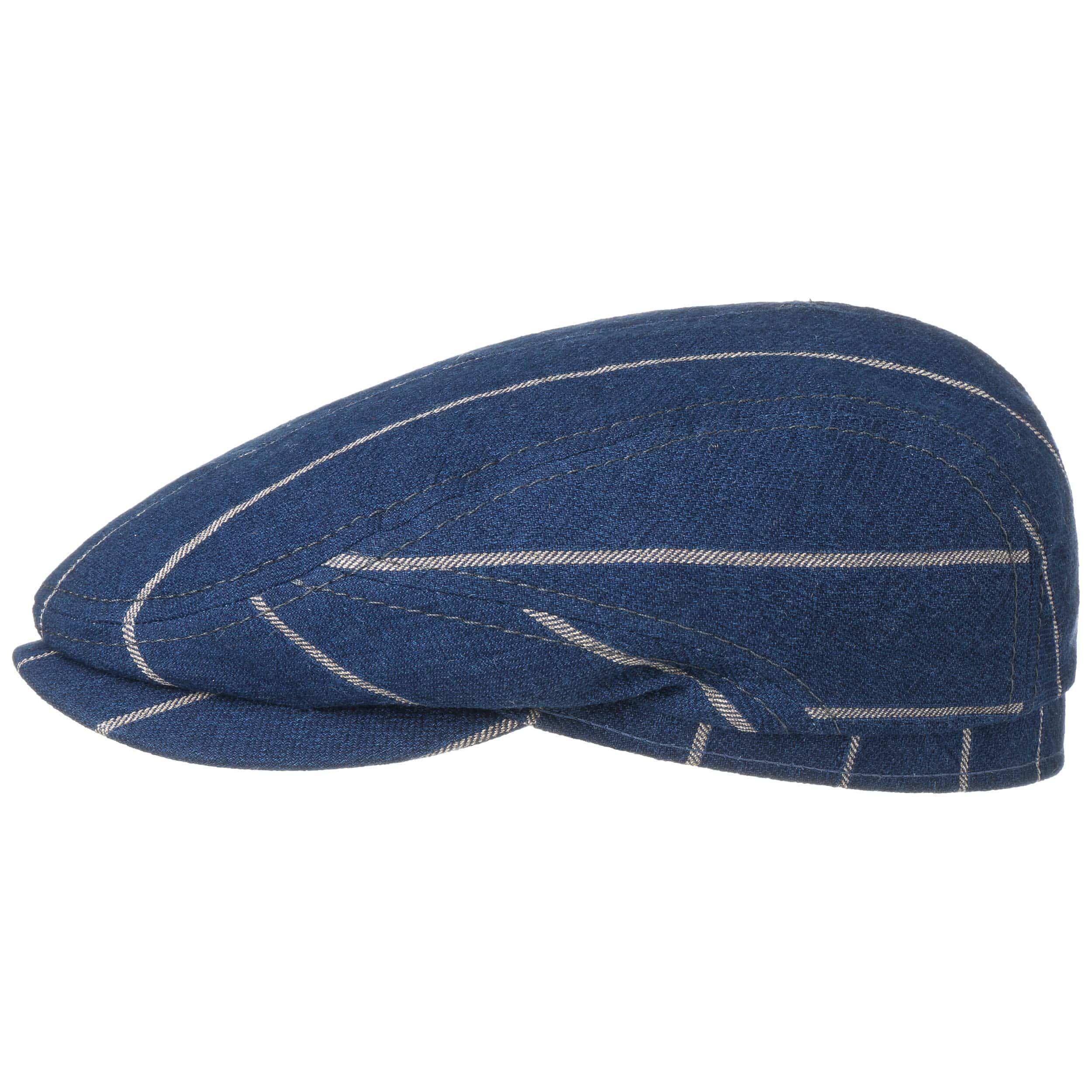 Brunswick Cotton Flat Cap blue