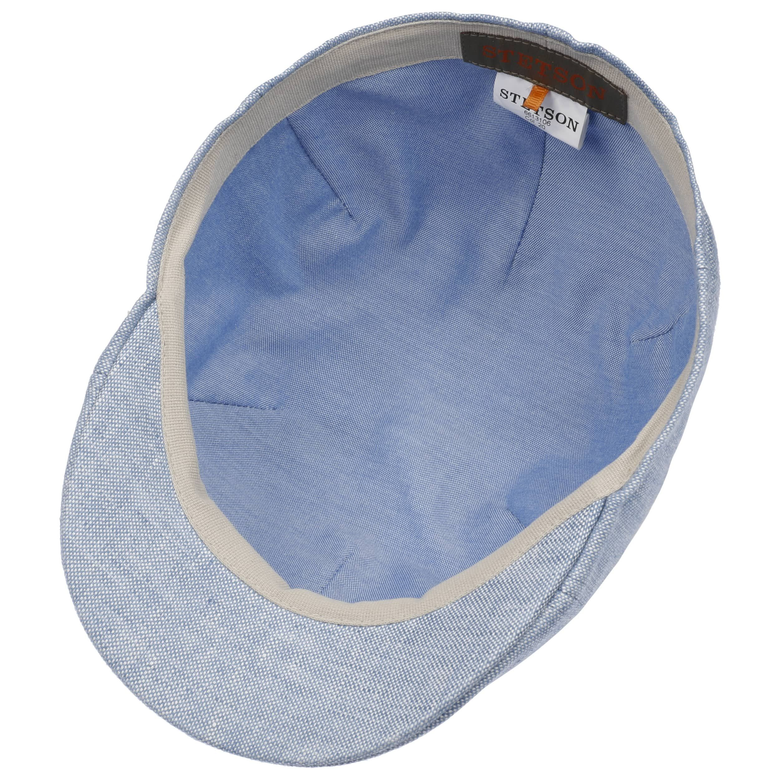 Texas Just Linen Flatcap hellblau