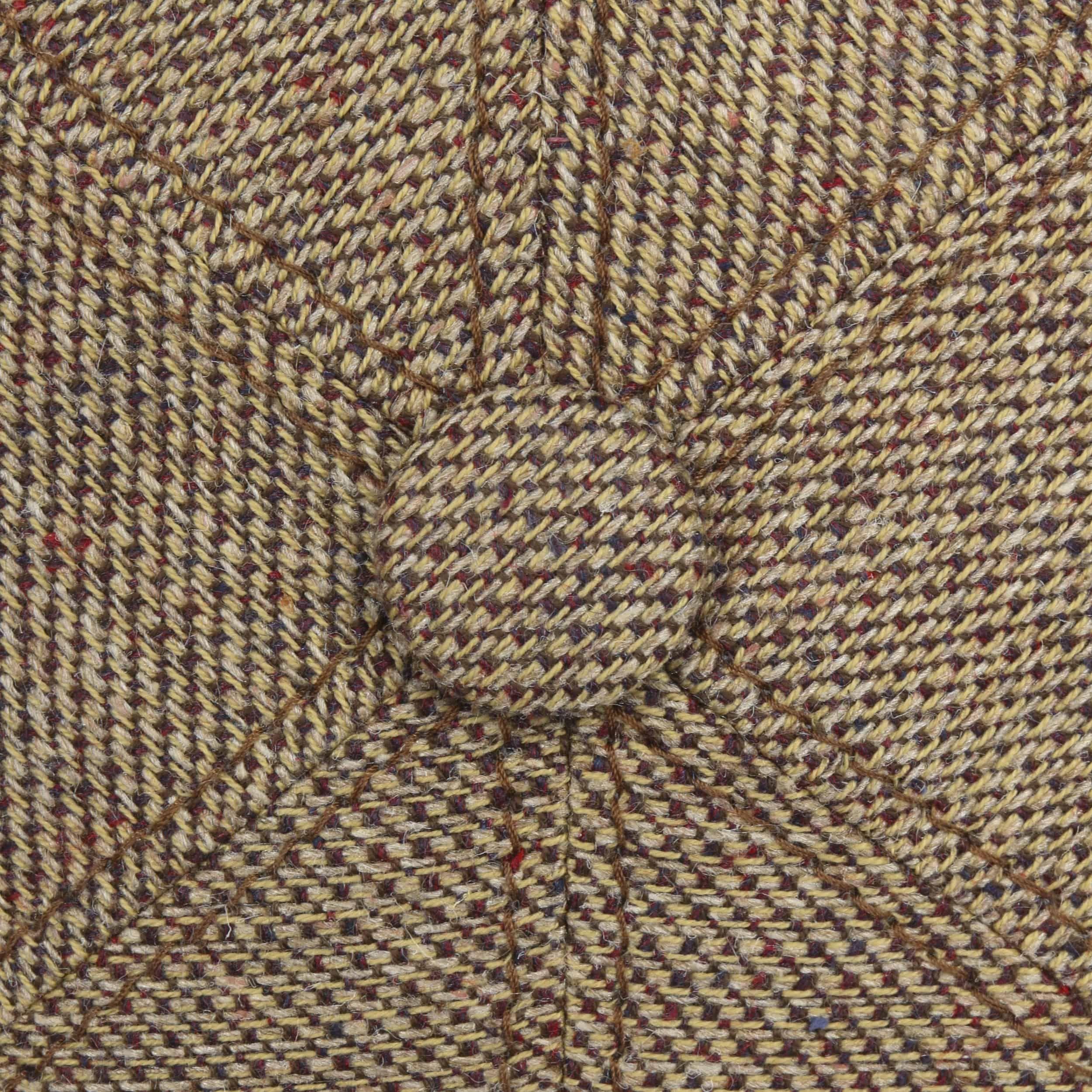 Carnsville 6 Panel Flat Cap brown-mottled