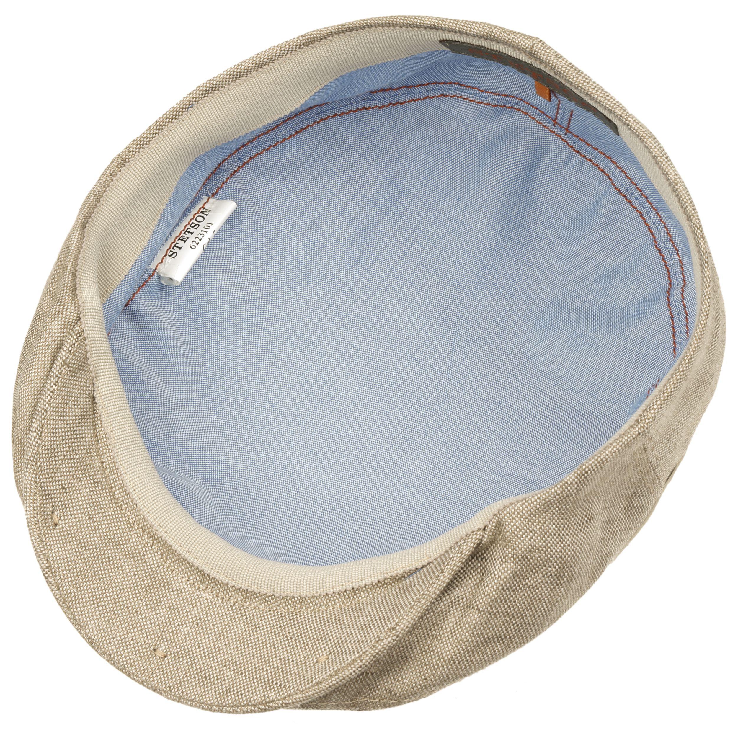 Just Linen Flat Cap brown