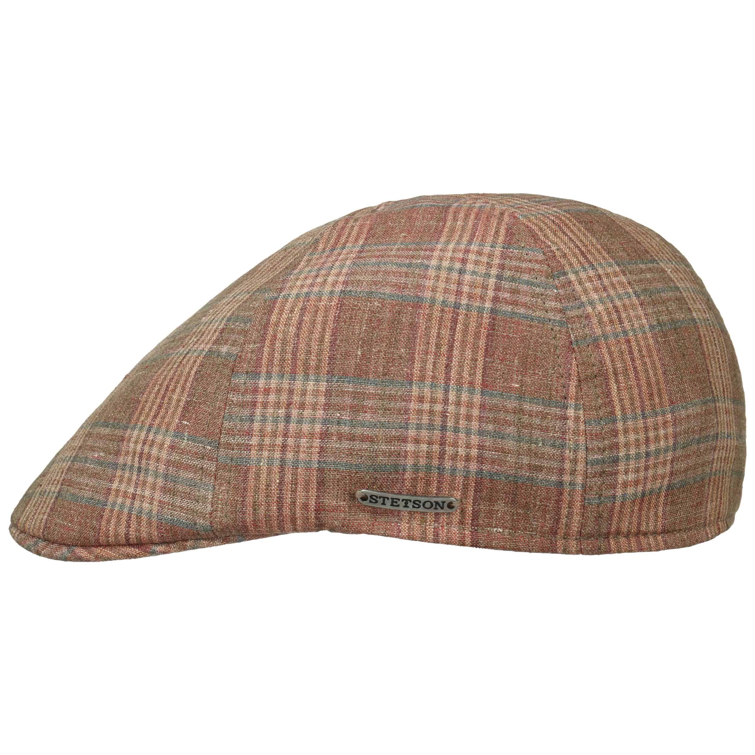 Texas Check Leinen Flatcap rost