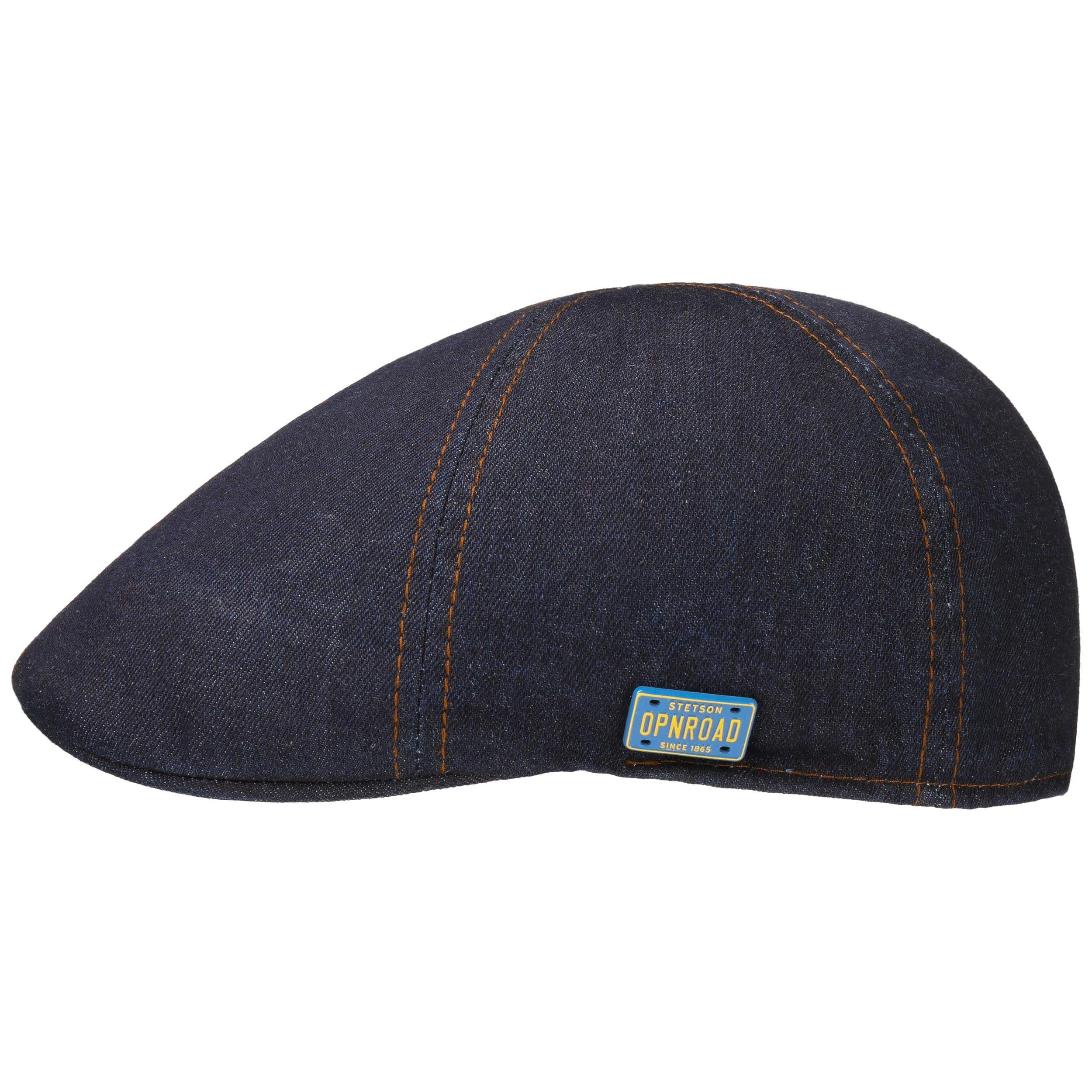 Texas Denim Contrast Stitch Flatcap denim