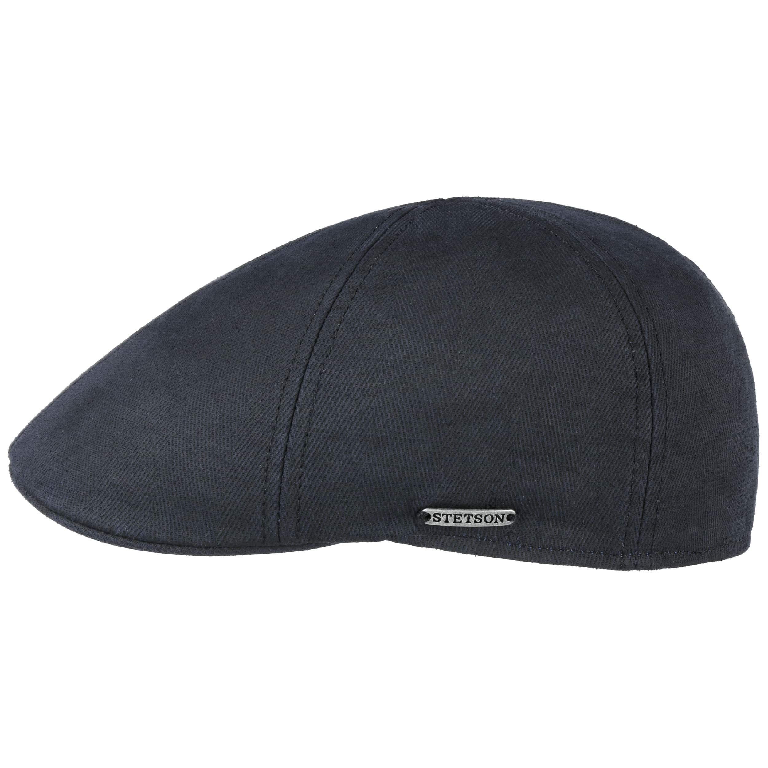Texas Cotton-Mix Flatcap dunkelblau