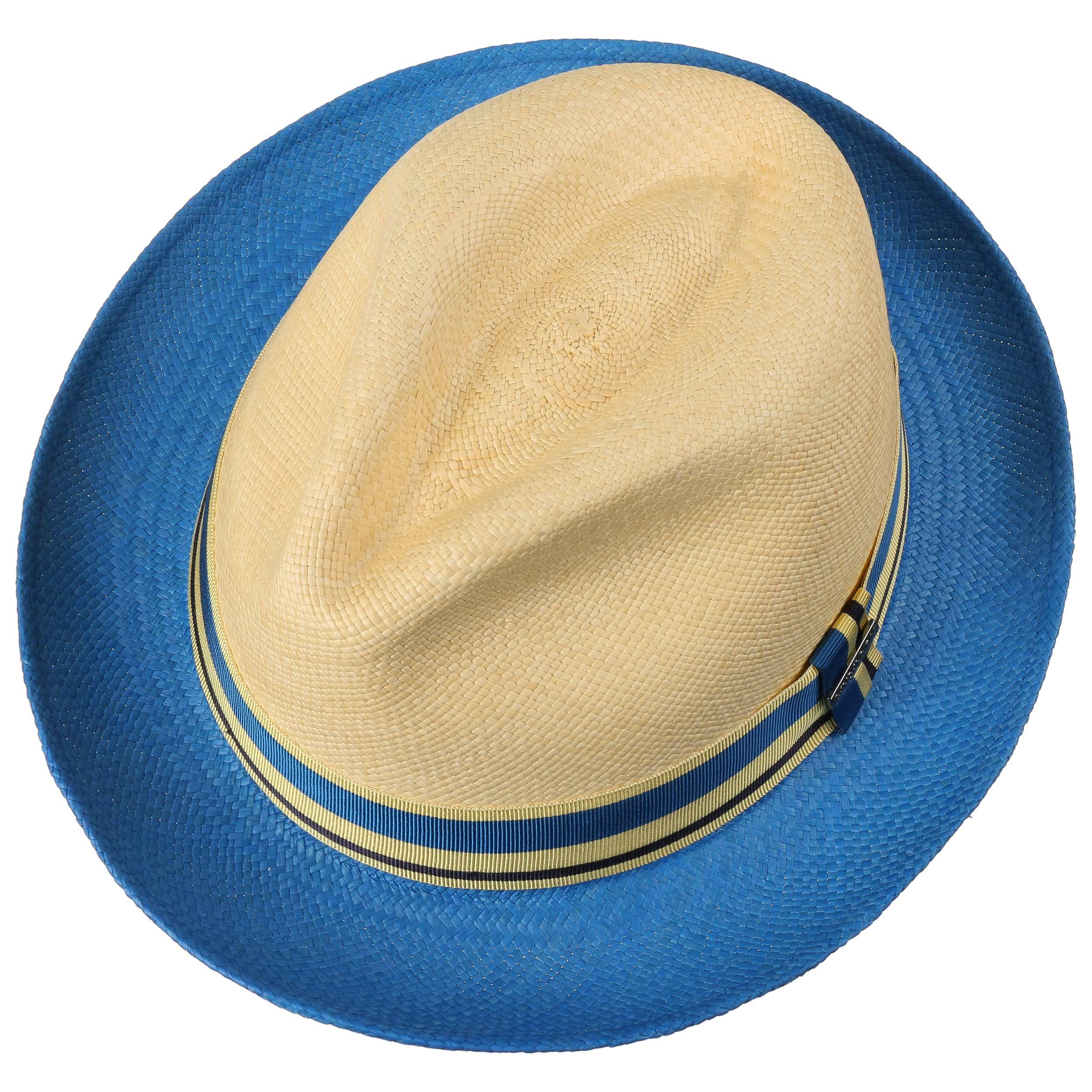 Recamo Player Panamahoed naturel-blauw