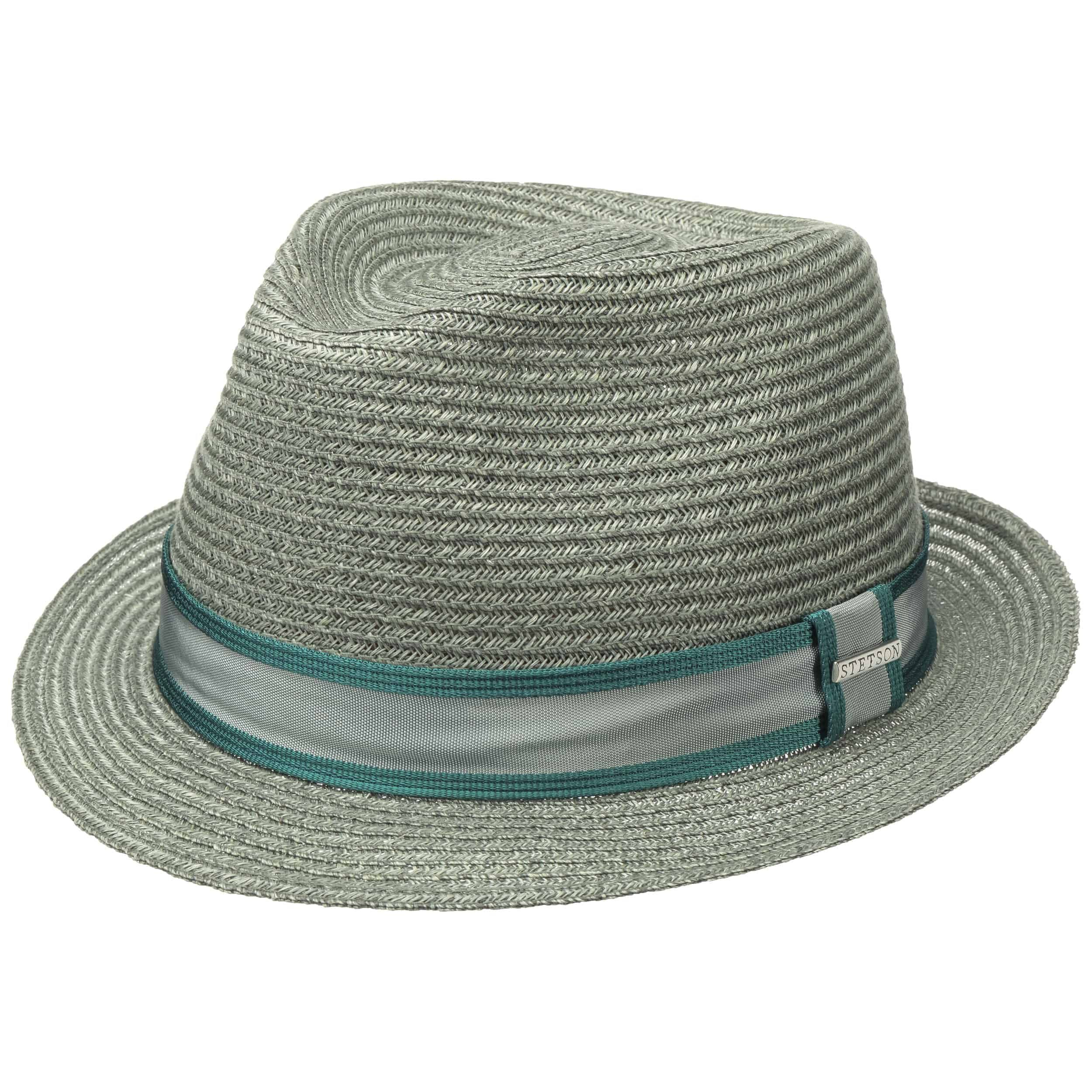 Ashville Abaca Trilby Straw Hat turquoise