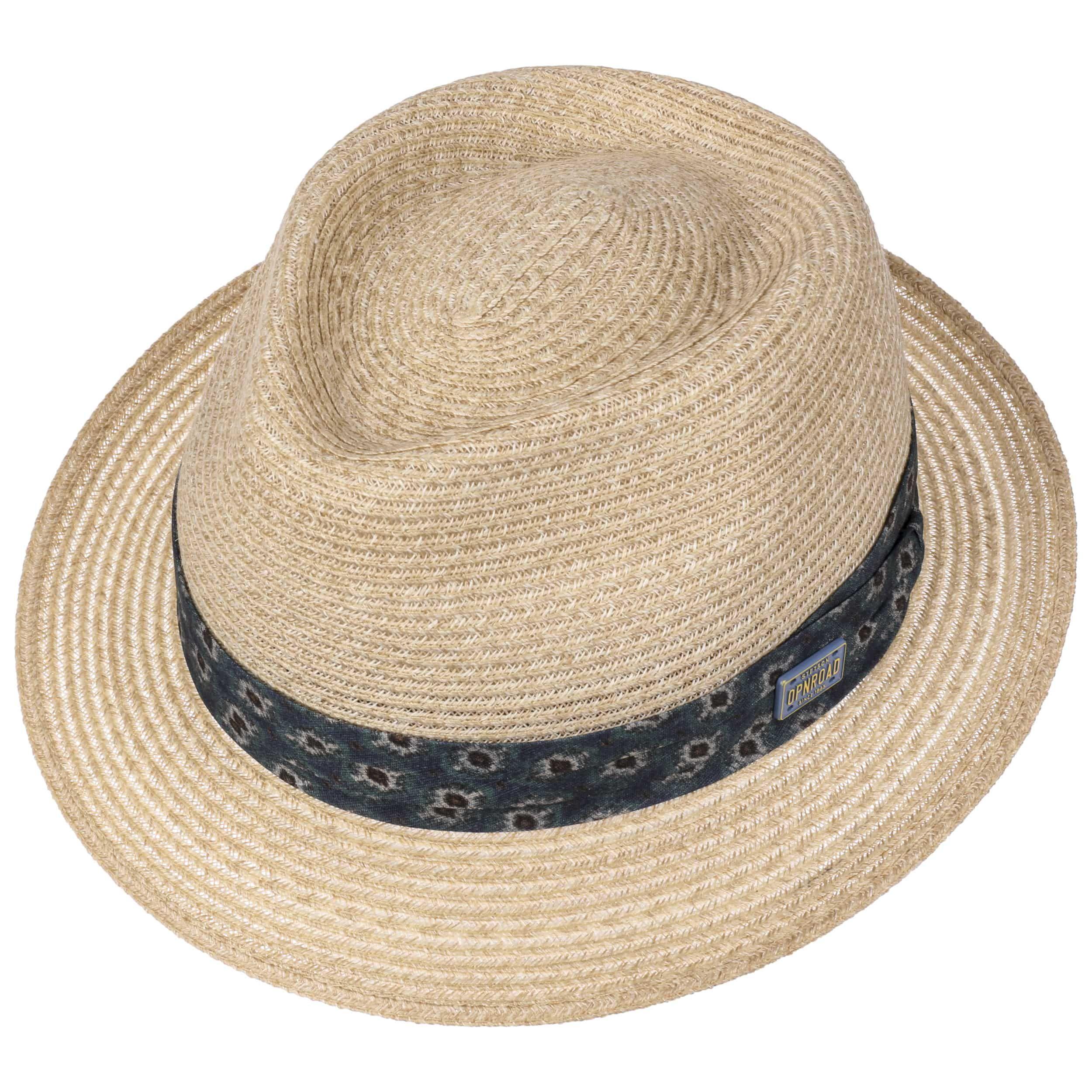 Abaca Trilby Straw Hat beige