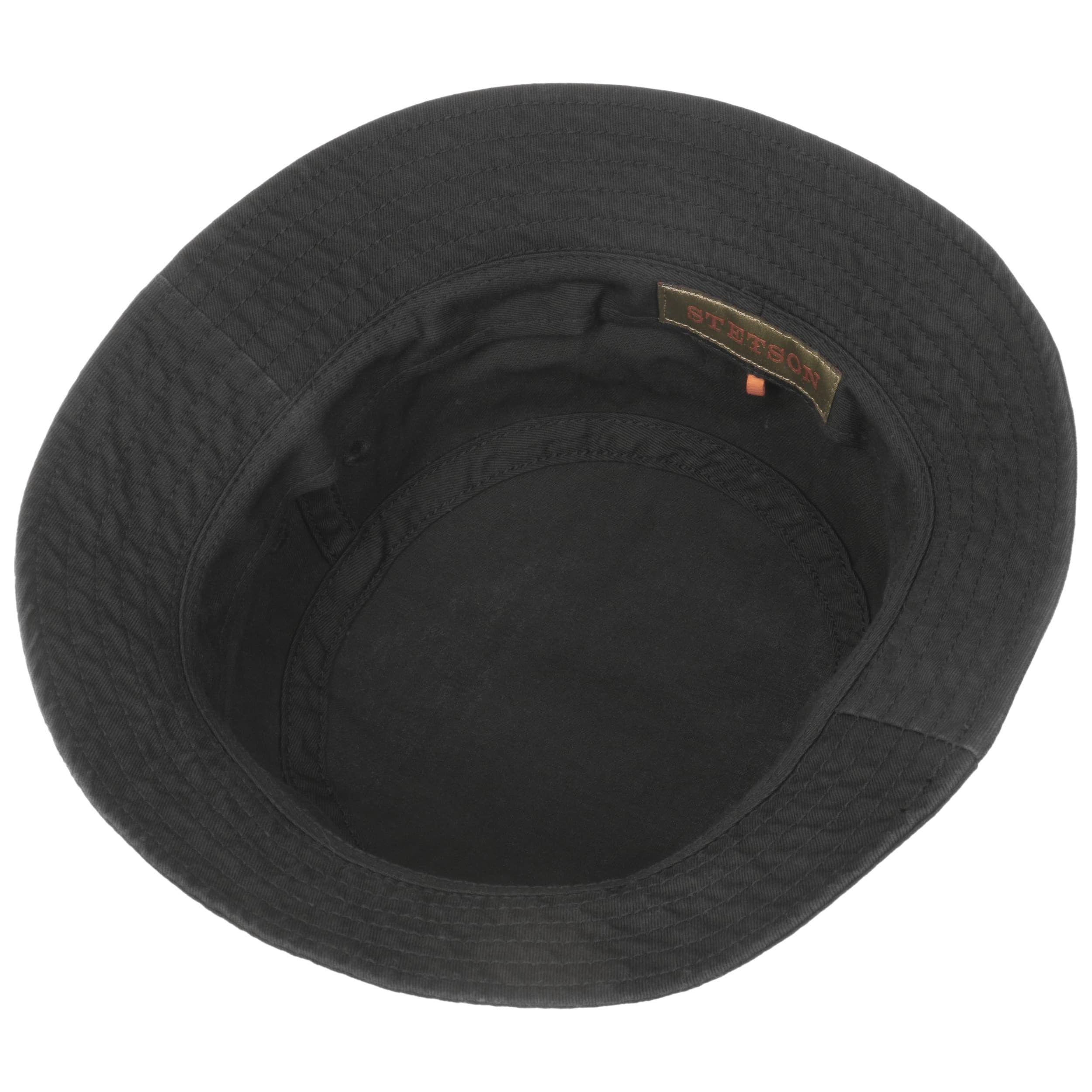 Organic Cotton Hoed met UV-Bescherming zwart
